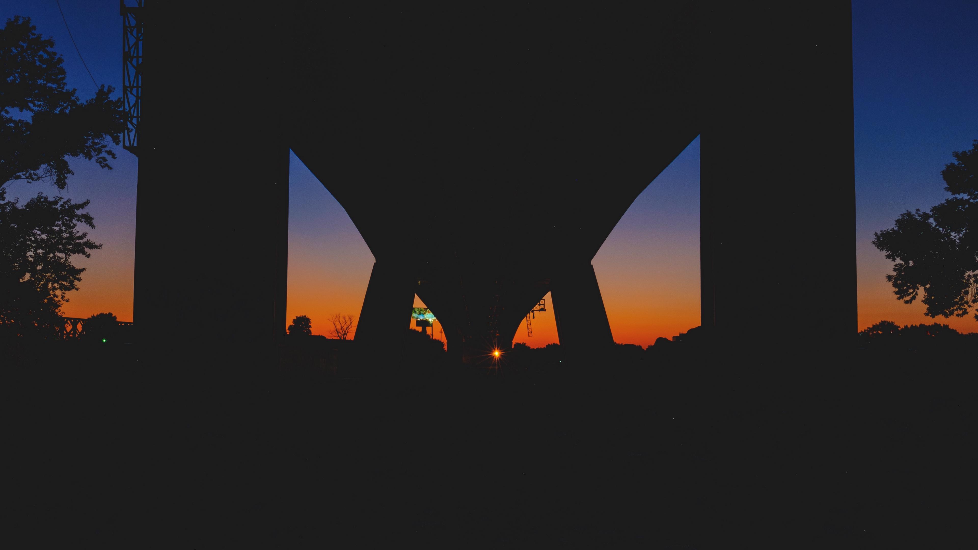 bridge night sunset 4k 1540574376 - bridge, night, sunset 4k - sunset, Night, bridge