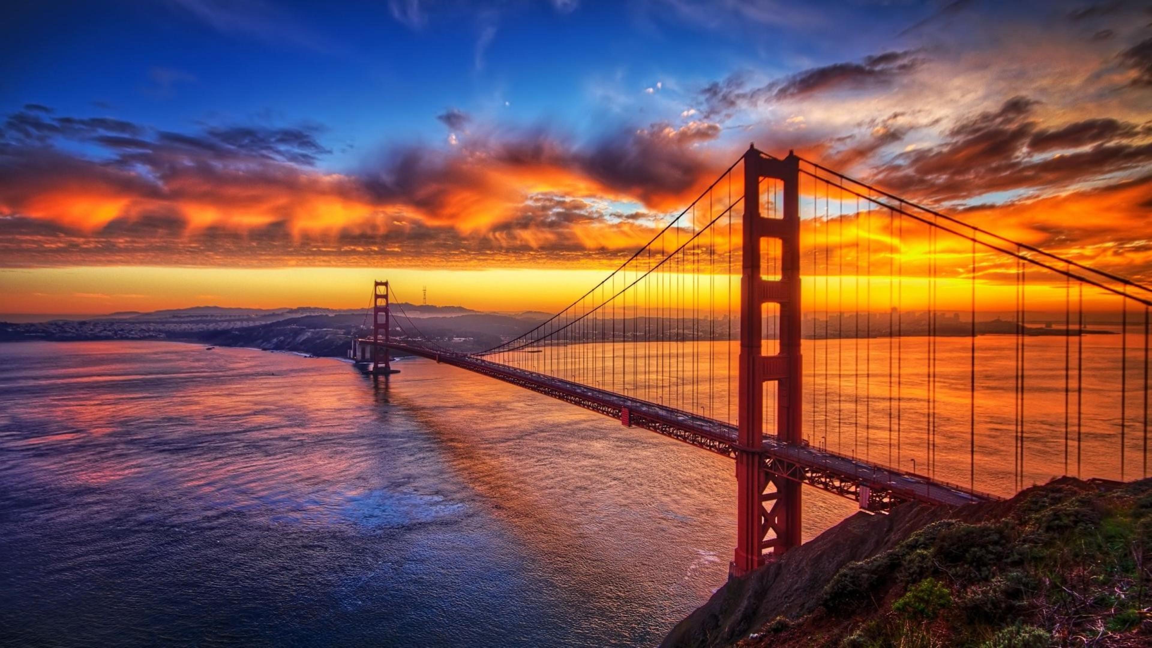 bridge sunset sky 4k 1540131383 - Bridge Sunset Sky 4k - sunset wallpapers, sky wallpapers, nature wallpapers, bridge wallpapers