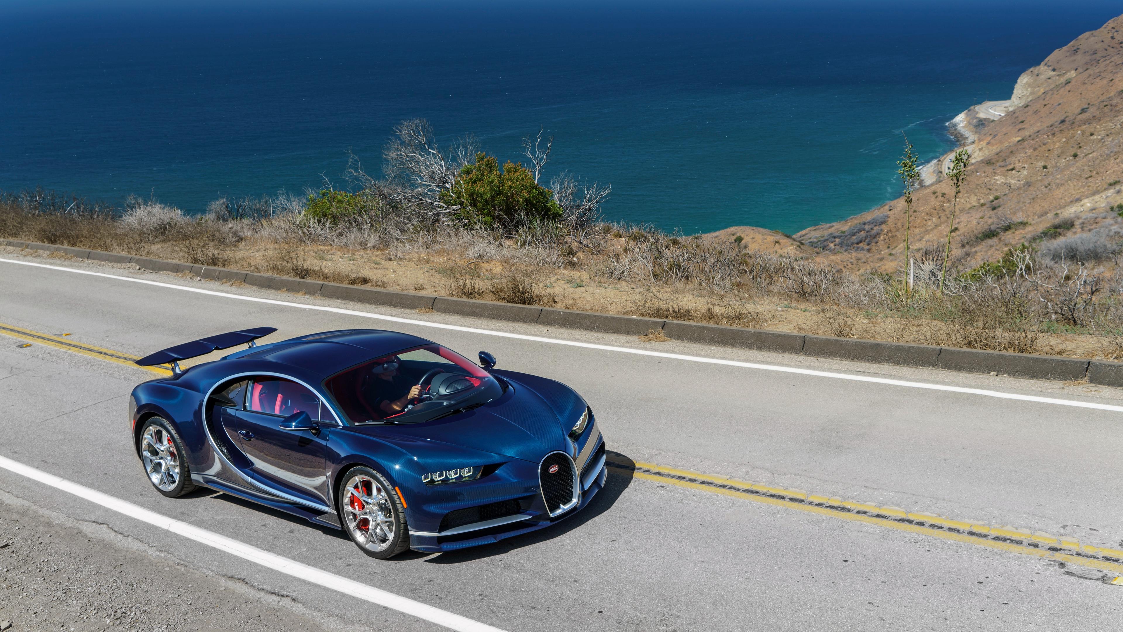 bugatti chiron blue side view 4k 1538935204 - bugatti, chiron, blue, side view 4k - Chiron, Bugatti, blue