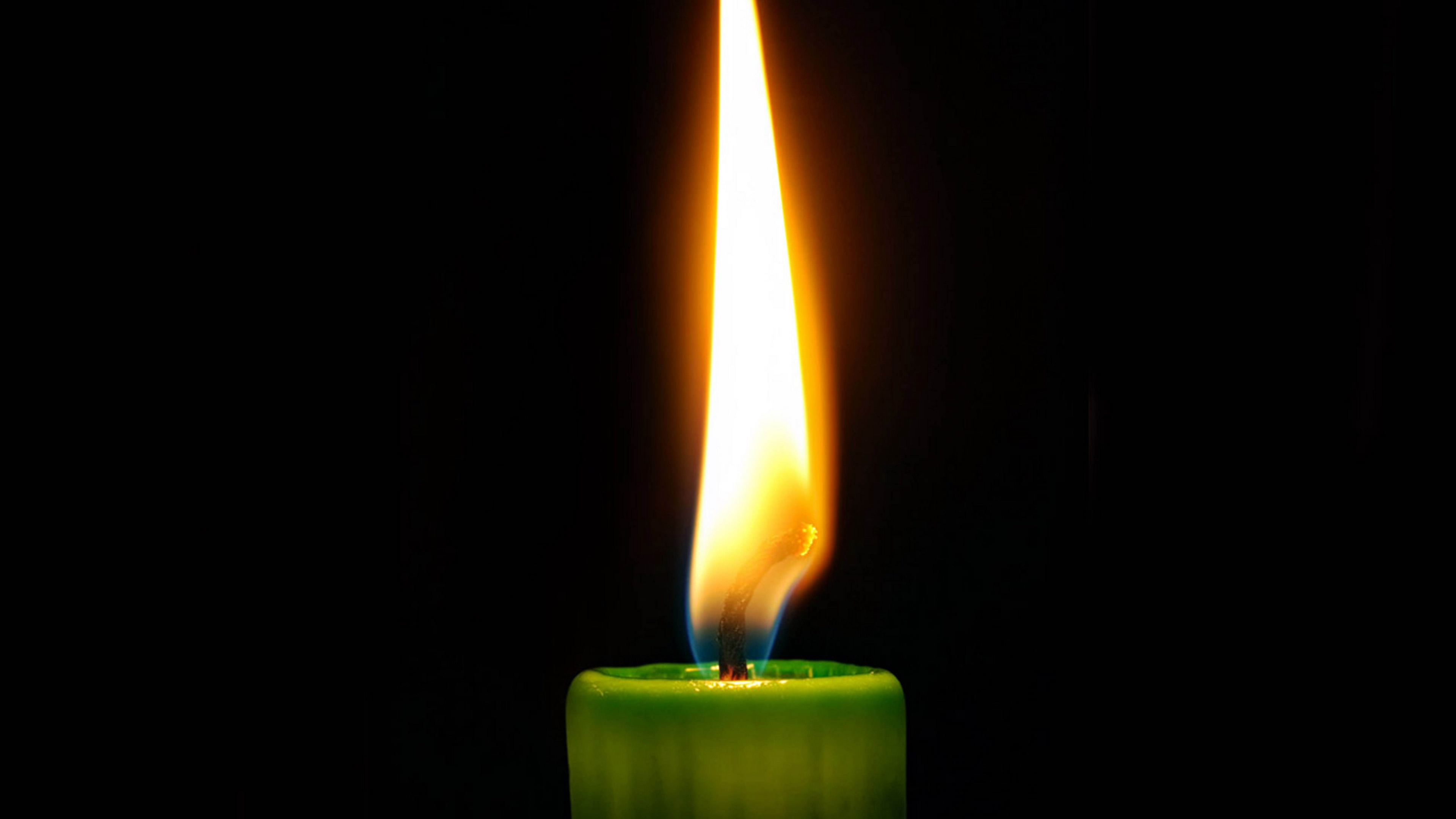 candle fire black background wax wick 4k 1540574344 - candle, fire, black background, wax, wick 4k - Fire, candle, black background