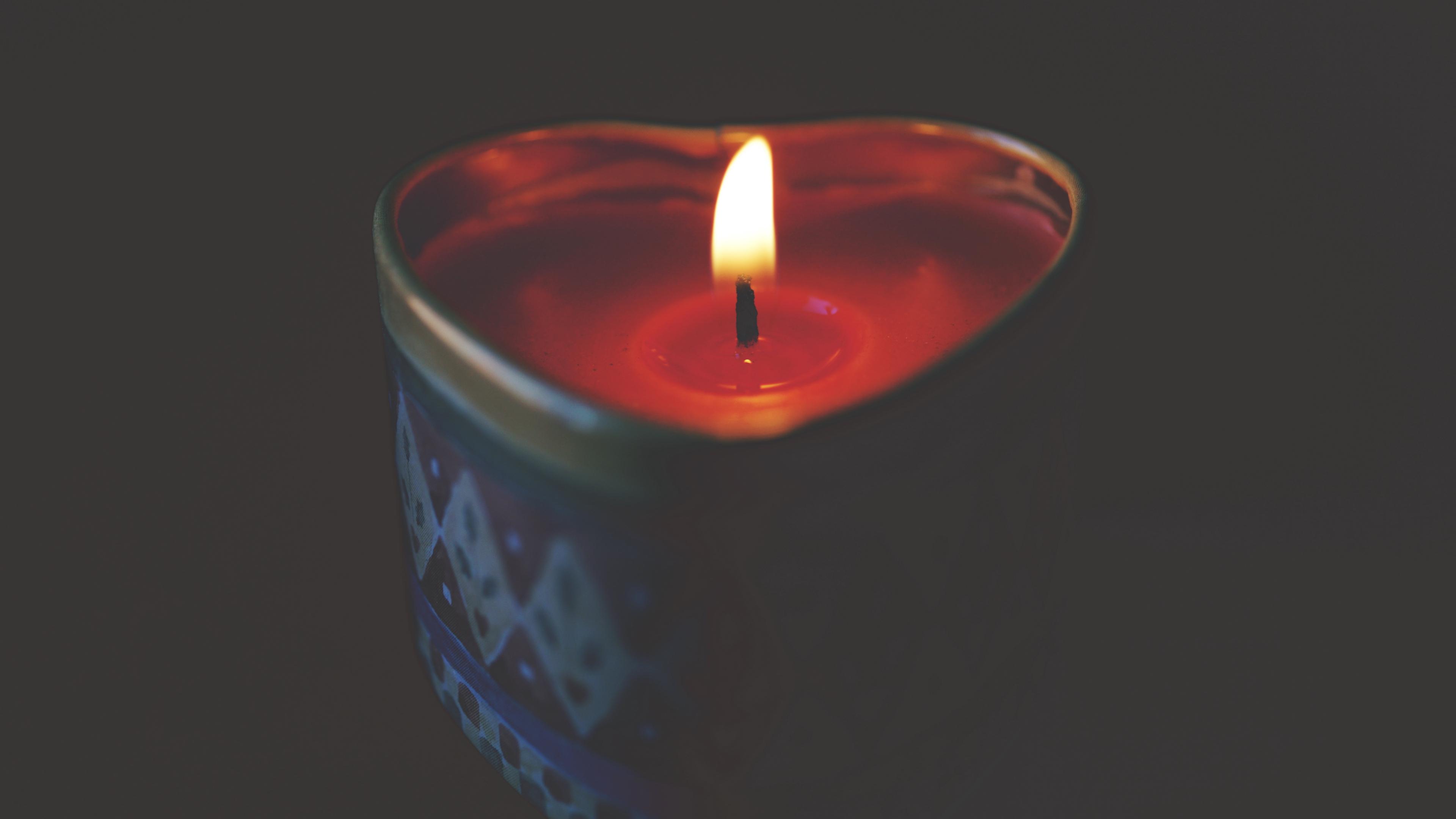 candle wax heart flame 4k 1540575338 - candle, wax, heart, flame 4k - wax, Heart, candle