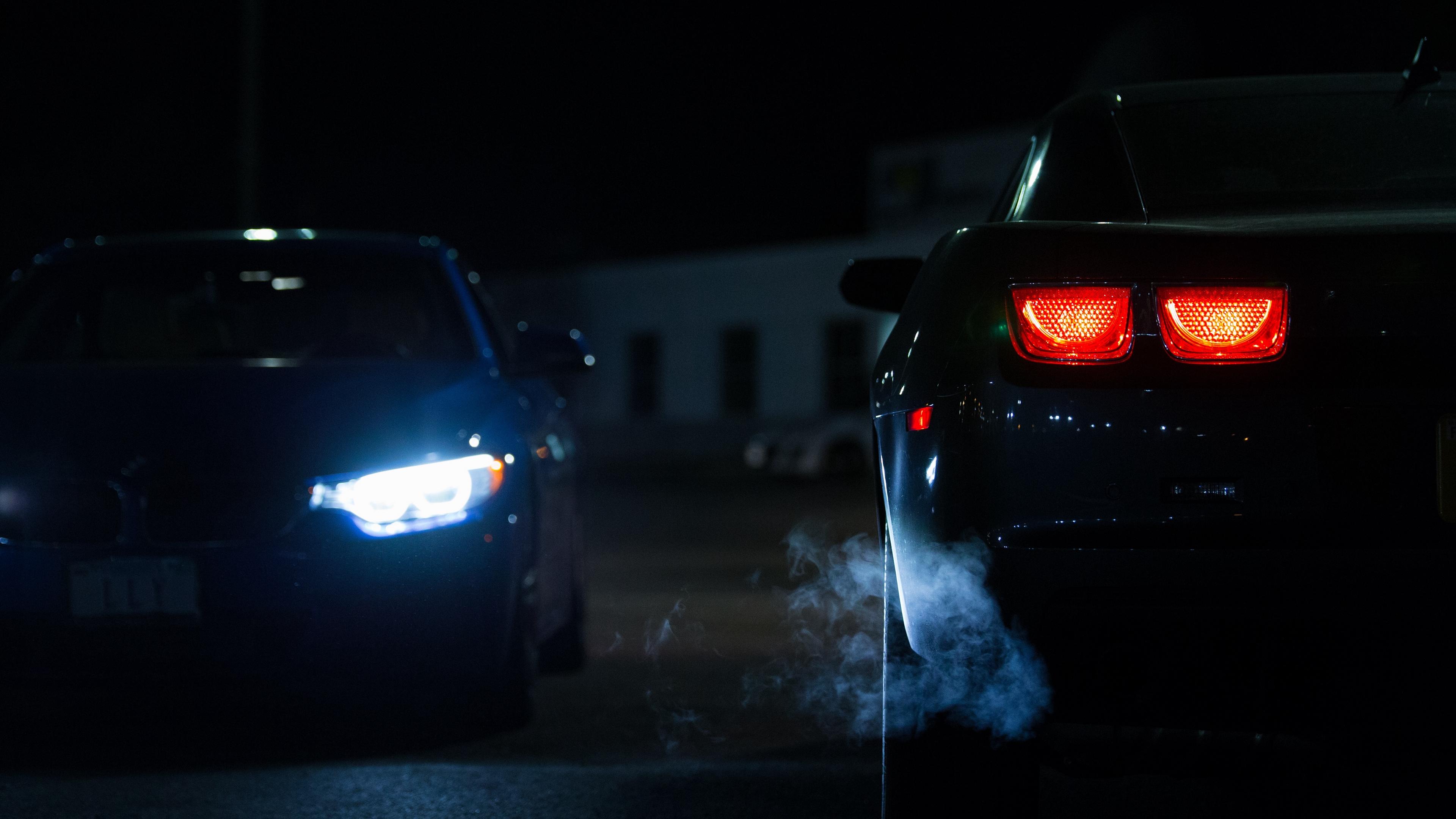 car lights night 4k 1538935521 - car, lights, night 4k - Night, Lights, Car