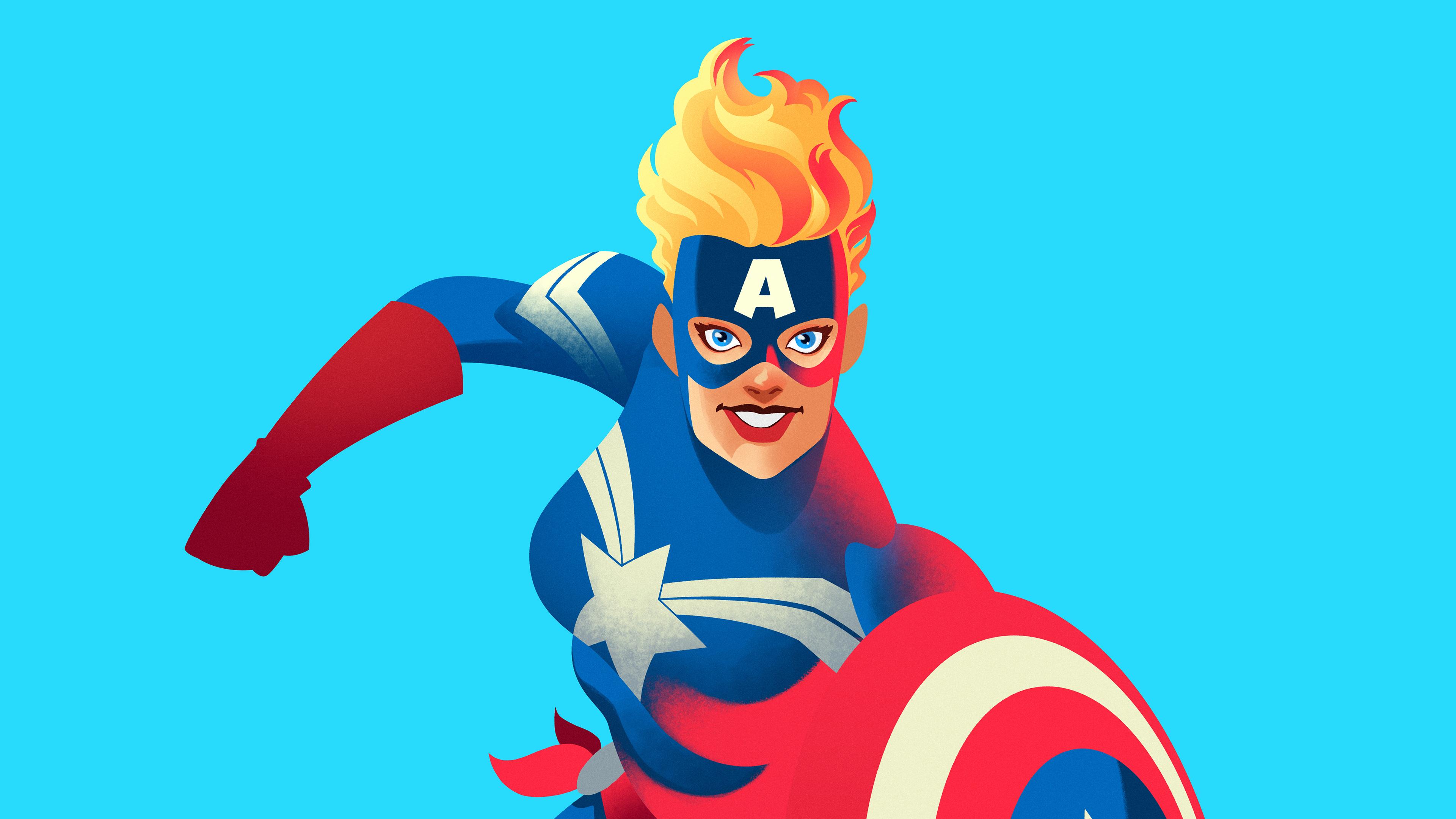 carol danvers 1539978570 - Carol Danvers - superheroes wallpapers, minimalist wallpapers, minimalism wallpapers, hd-wallpapers, carol danvers wallpapers, captain marvel wallpapers, behance wallpapers, 4k-wallpapers