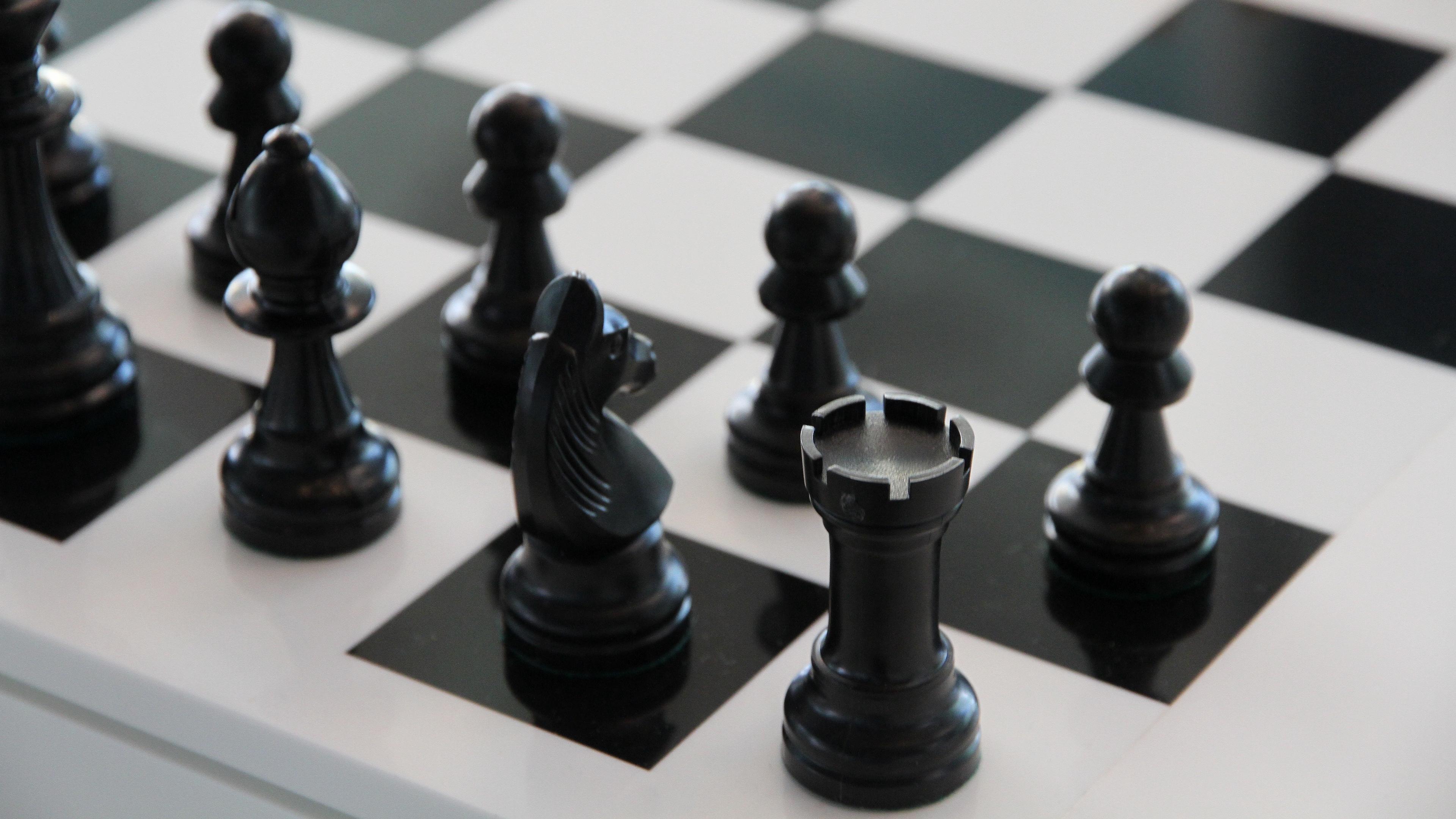 chess chessboard figure bw 4k 1540063189 - chess, chessboard, figure, bw 4k - Figure, chessboard, Chess