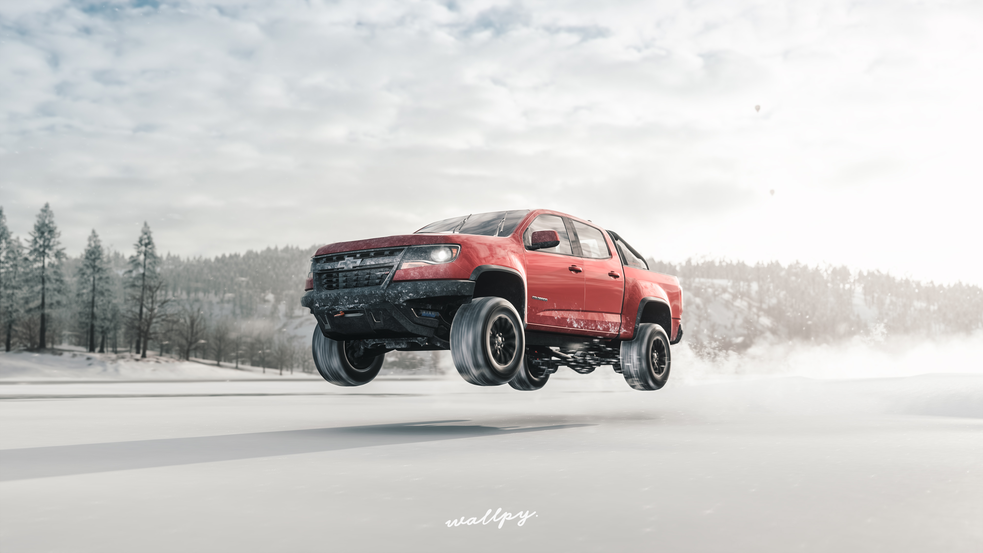 Wallpaper 4k Chevrolet Truck Jump Snow Forza Horizon 4 4k 4k