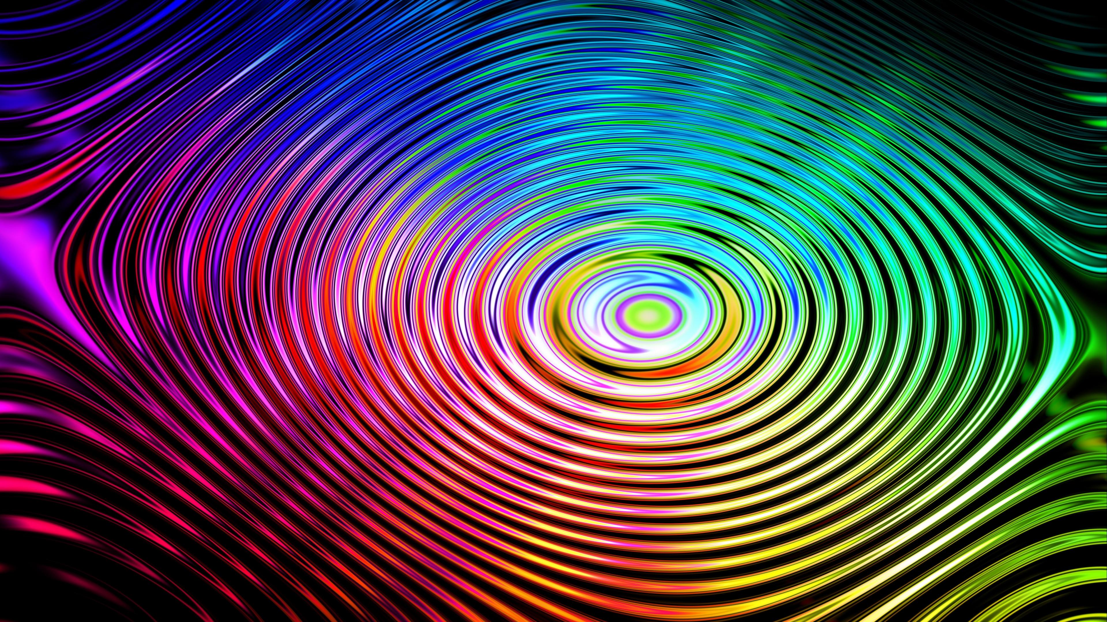 circles colorful wavy 4k 1539369849 - circles, colorful, wavy 4k - wavy, Colorful, Circles
