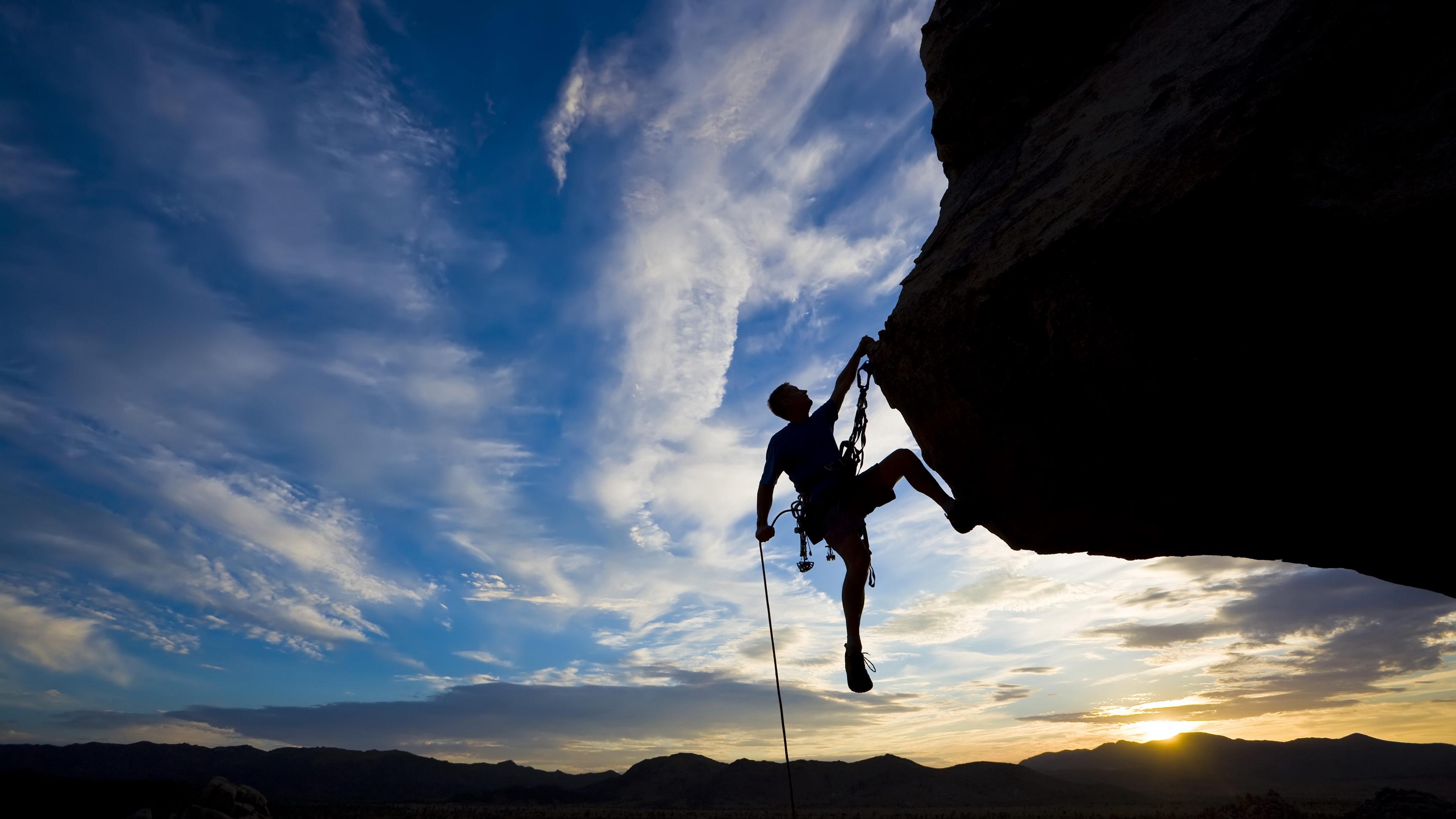 climber extreme silhouette climbing rock difficulties sunset 4k 1540063485 - climber, extreme, silhouette, climbing, rock, difficulties sunset 4k - Silhouette, extreme, climber