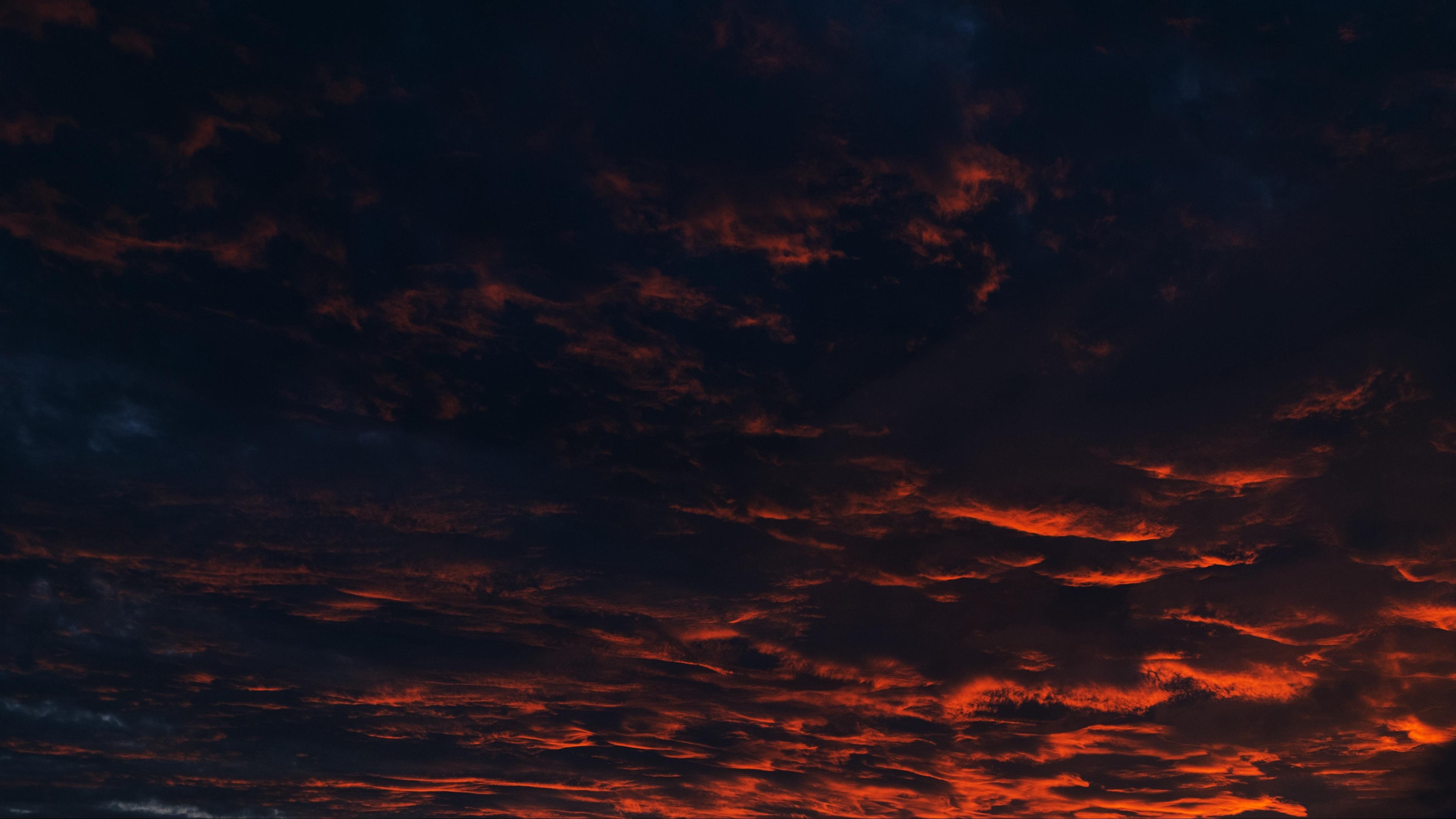 clouds sunset night 4k 1540575577 - clouds, sunset, night 4k - sunset, Night, Clouds
