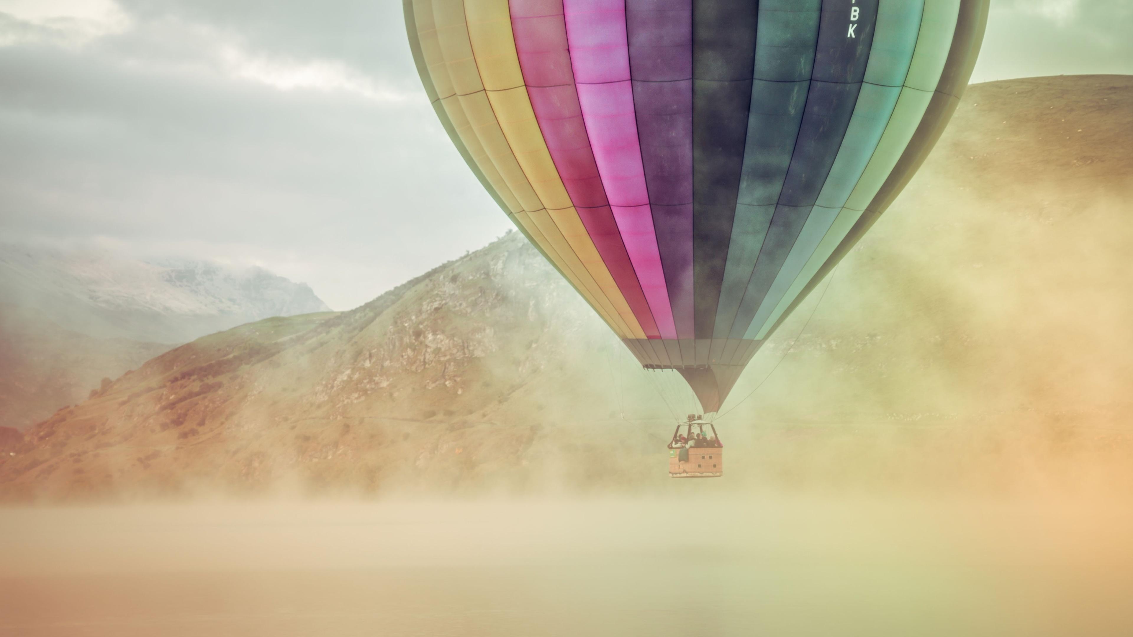 colorful hot air balloon 4k 1540136234 - Colorful Hot Air Balloon 4k - nature wallpapers, hd-wallpapers, colorful wallpapers, air balloon wallpapers, 4k-wallpapers