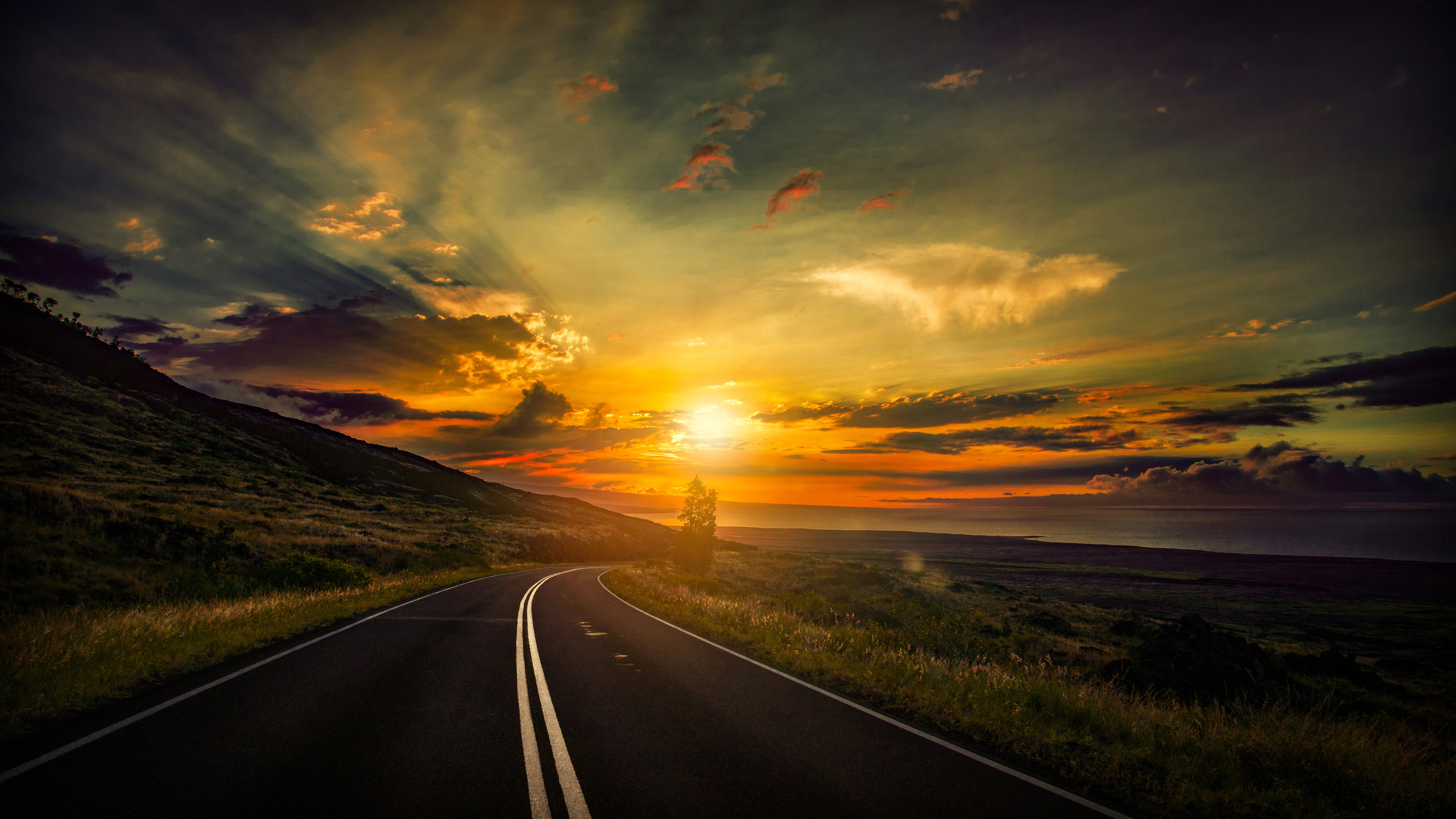 cool sunset road view 4k 1540136353 - Cool Sunset Road View 4k - sunset wallpapers, road wallpapers, nature wallpapers, hd-wallpapers, 8k wallpapers, 5k wallpapers, 4k-wallpapers