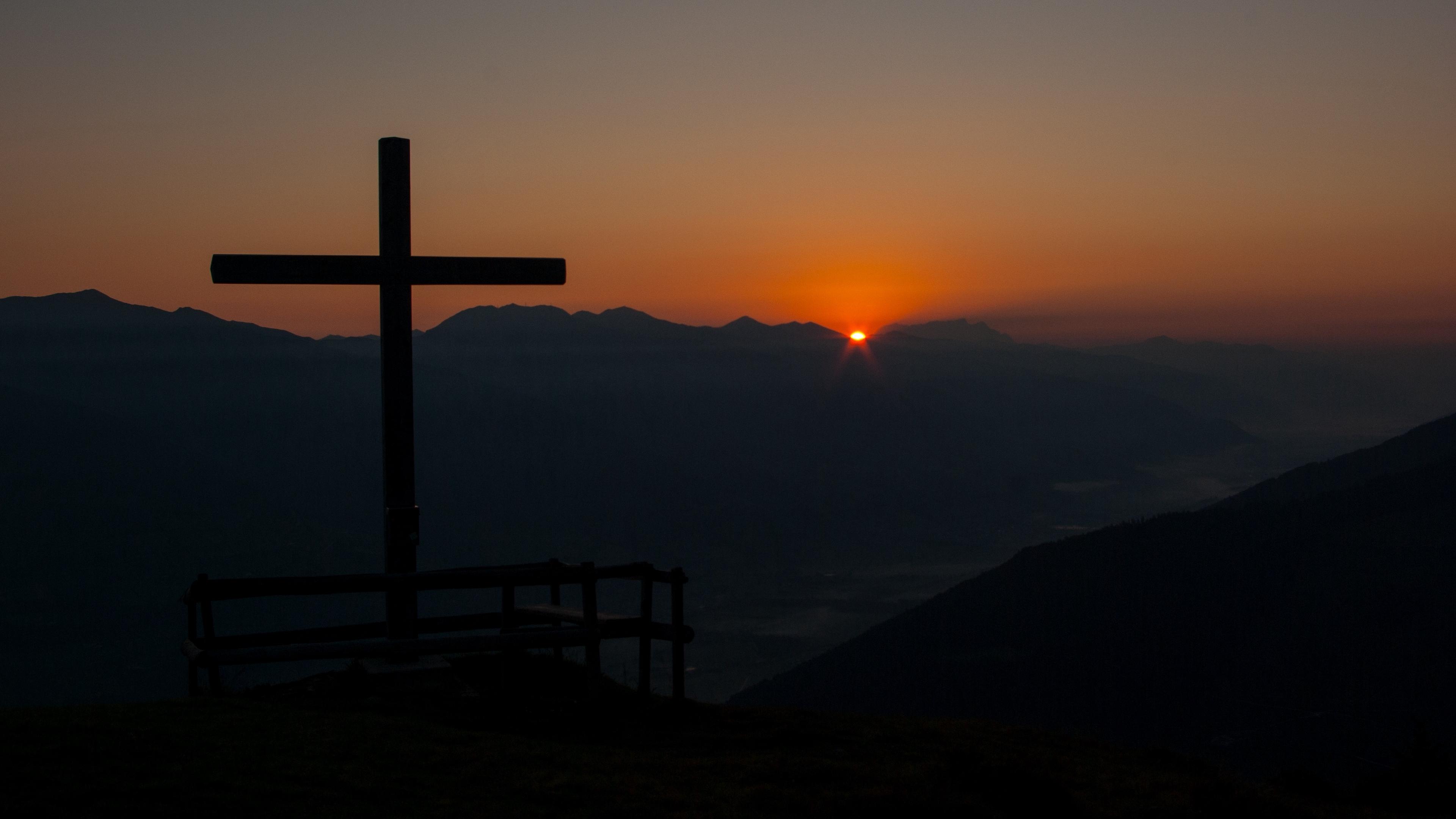 cross mountains dawn religion faith 4k 1540574971 - cross, mountains, dawn, religion, faith 4k - Mountains, Dawn, Cross