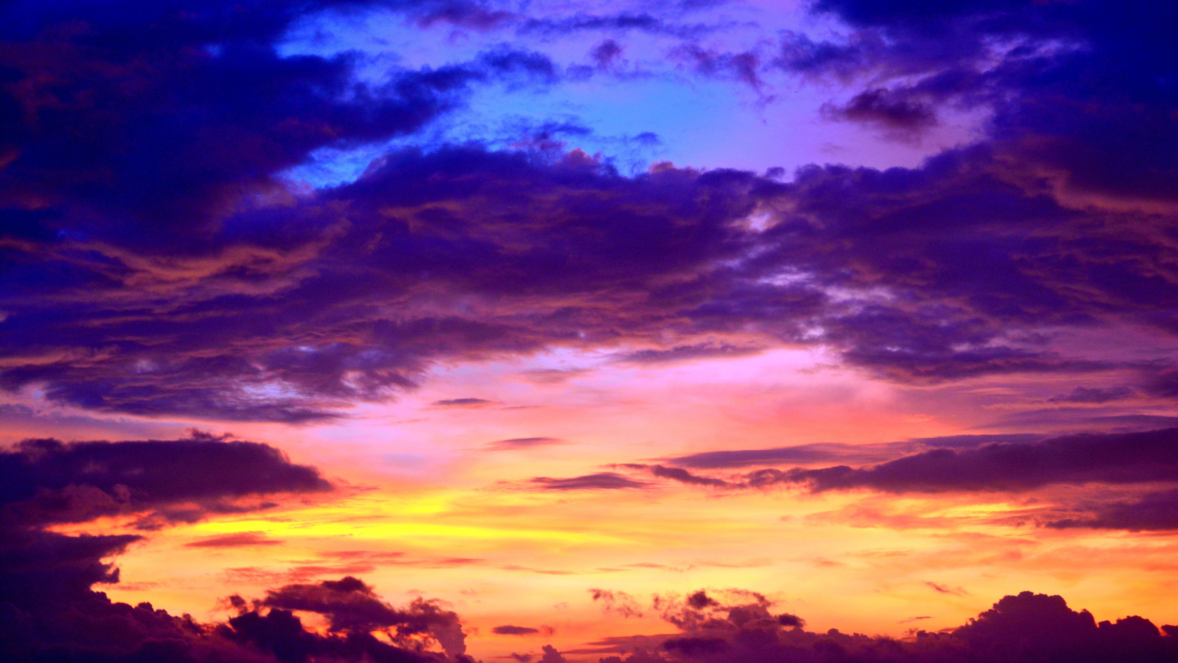 cumulus clouds evening silhouette 1540136555 - Cumulus Clouds Evening Silhouette - silhouette wallpapers, nature wallpapers, hd-wallpapers, evening wallpapers, clouds wallpapers, 5k wallpapers, 4k-wallpapers