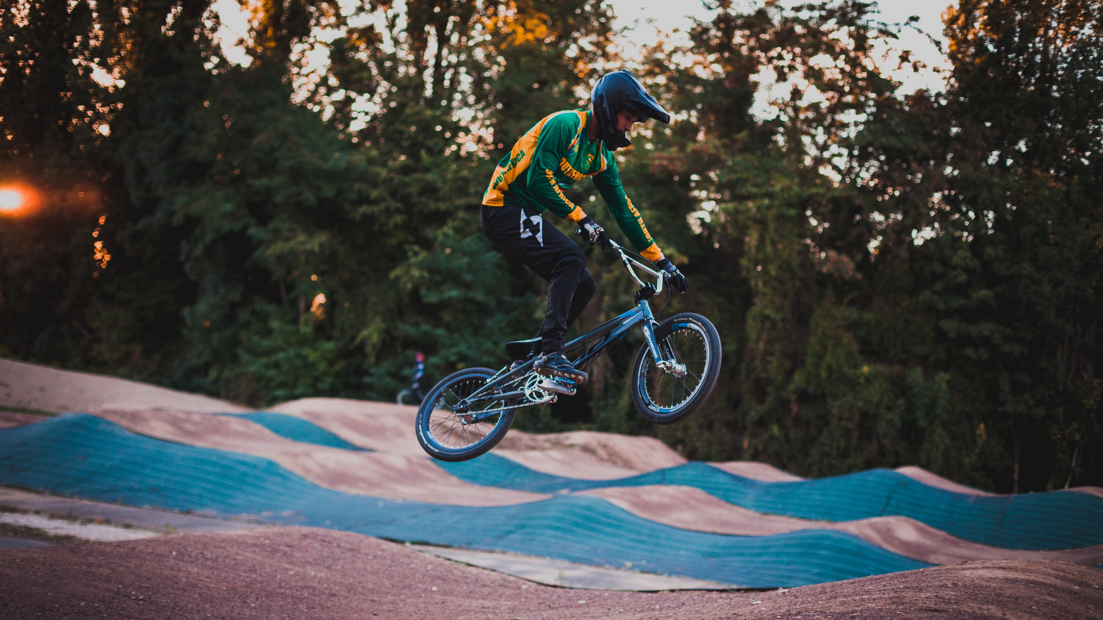 cyclist stunt jump helmet cycle track 4k 1540060828 - cyclist, stunt, jump, helmet, cycle track 4k - Stunt, jump, cyclist