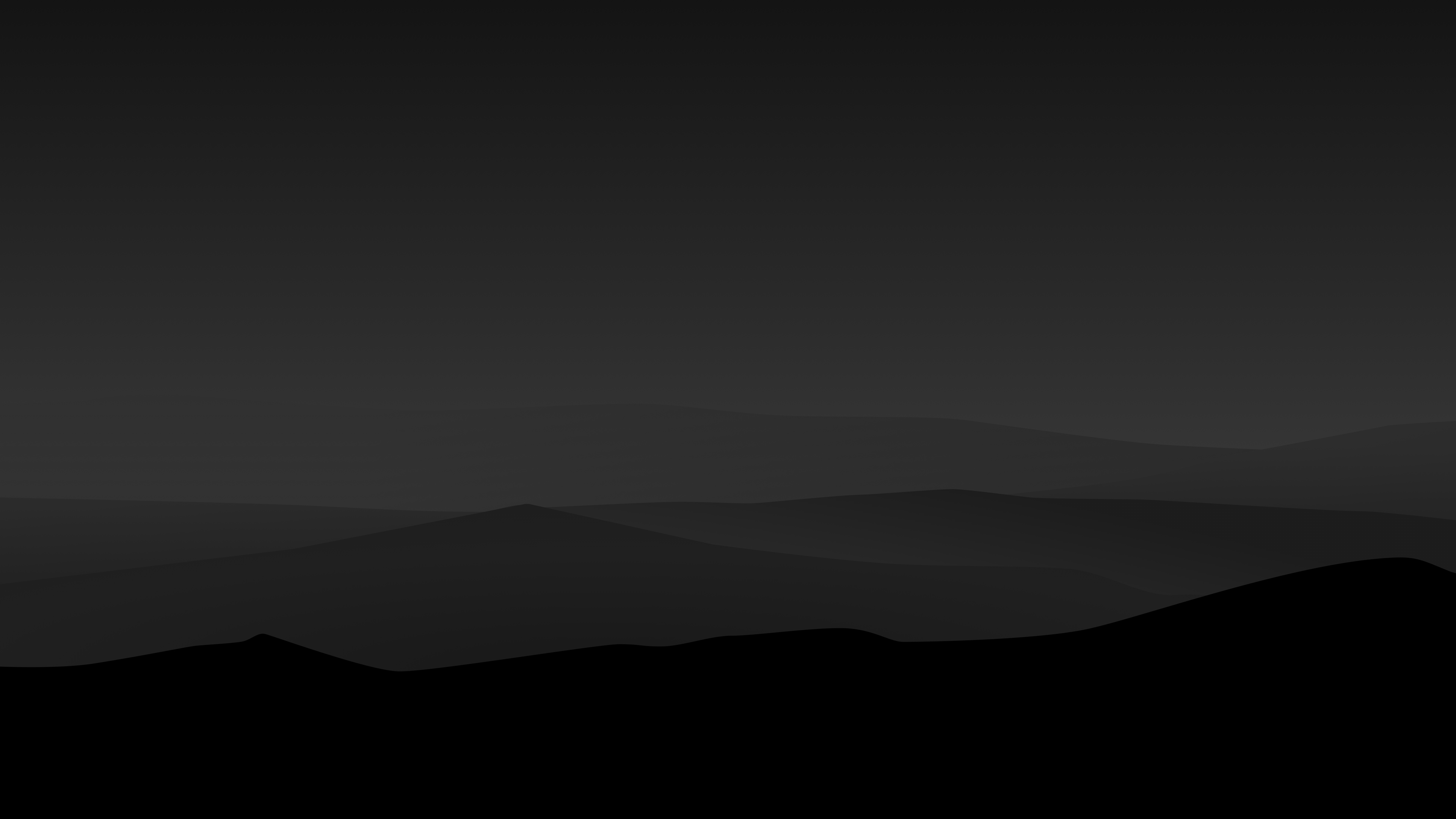 Dark Night Mountains Minimalist 4k simple background ...