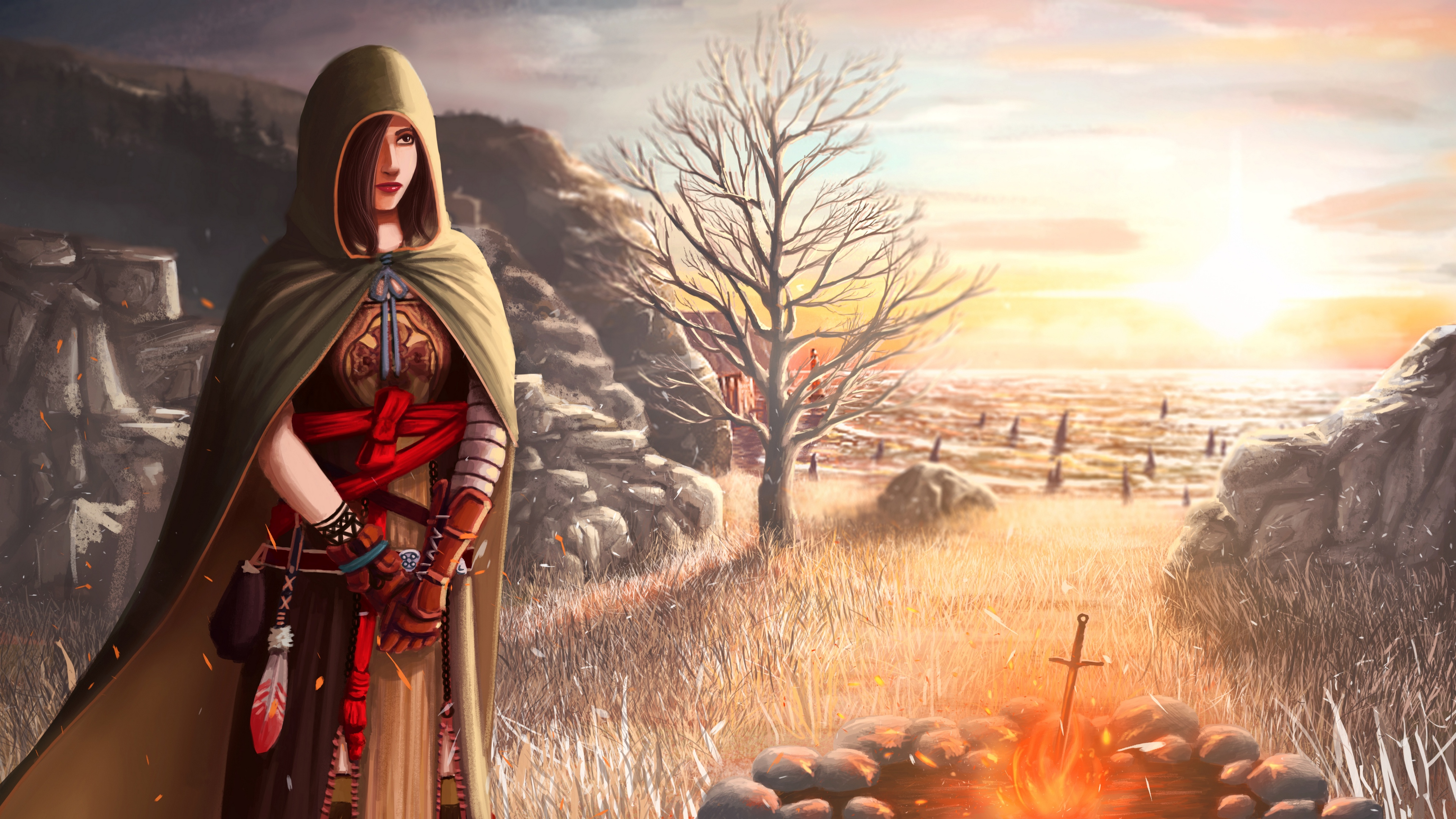 dark souls 2 shanalotte girl cape field 4k 1538944807 - dark souls 2, shanalotte, girl, cape, field 4k - shanalotte, Girl, dark souls 2