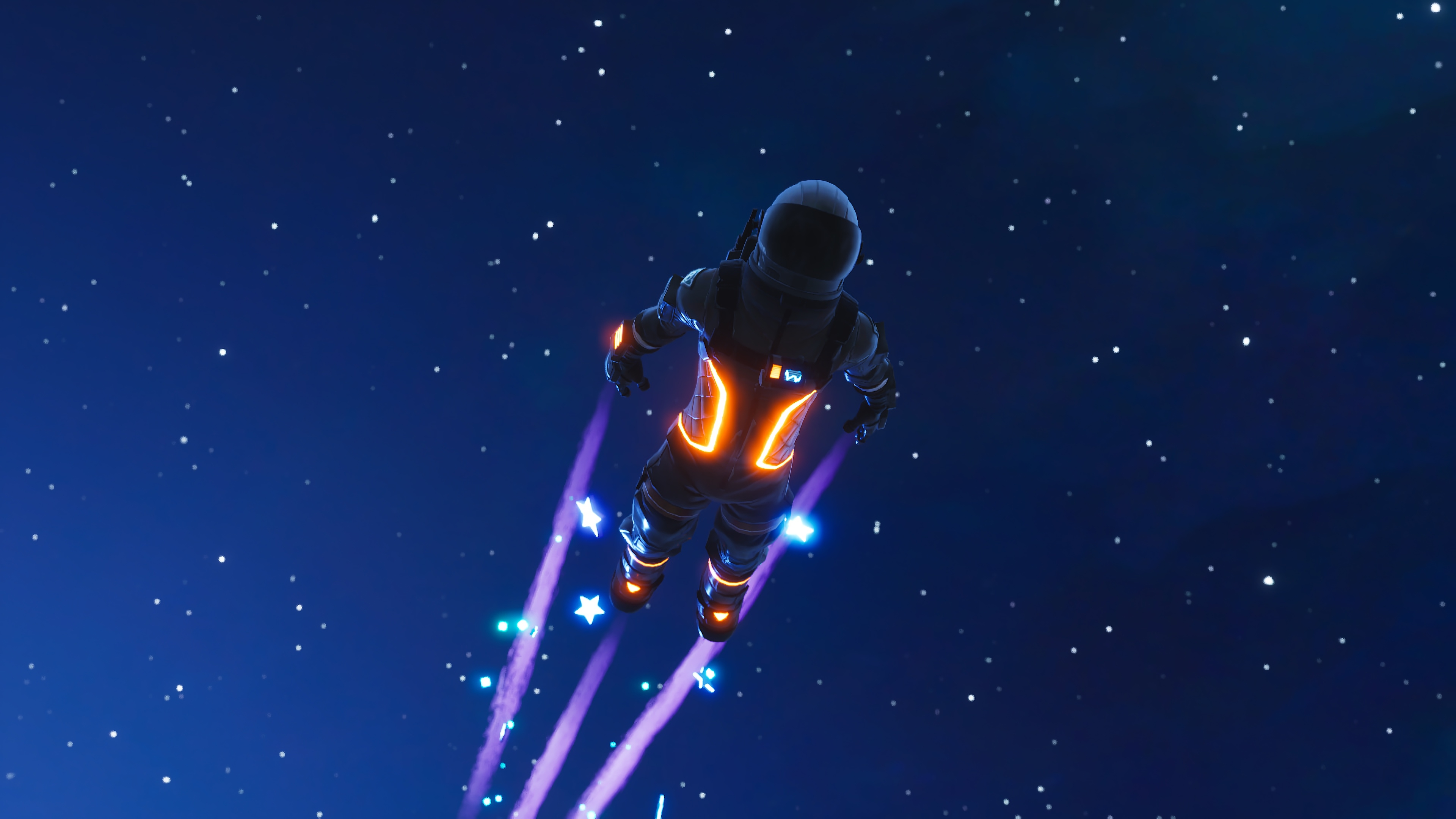 Wallpaper 4k Dark Voyager Skydive Fortnite Battle Royale 4k 2018