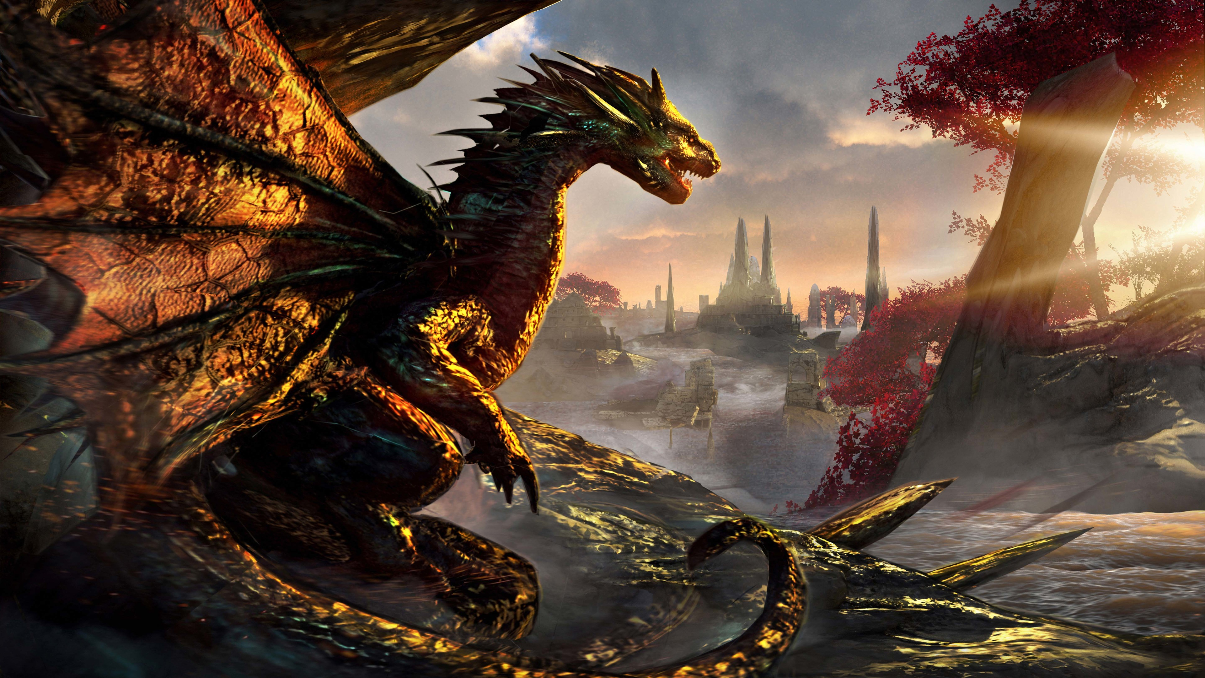 dawn of dragons artwork 4k 1540755507 - Dawn Of Dragons Artwork 4k - hd-wallpapers, digital art wallpapers, deviantart wallpapers, artist wallpapersartwork wallpapers, artist wallpapers, 4k-wallpapers