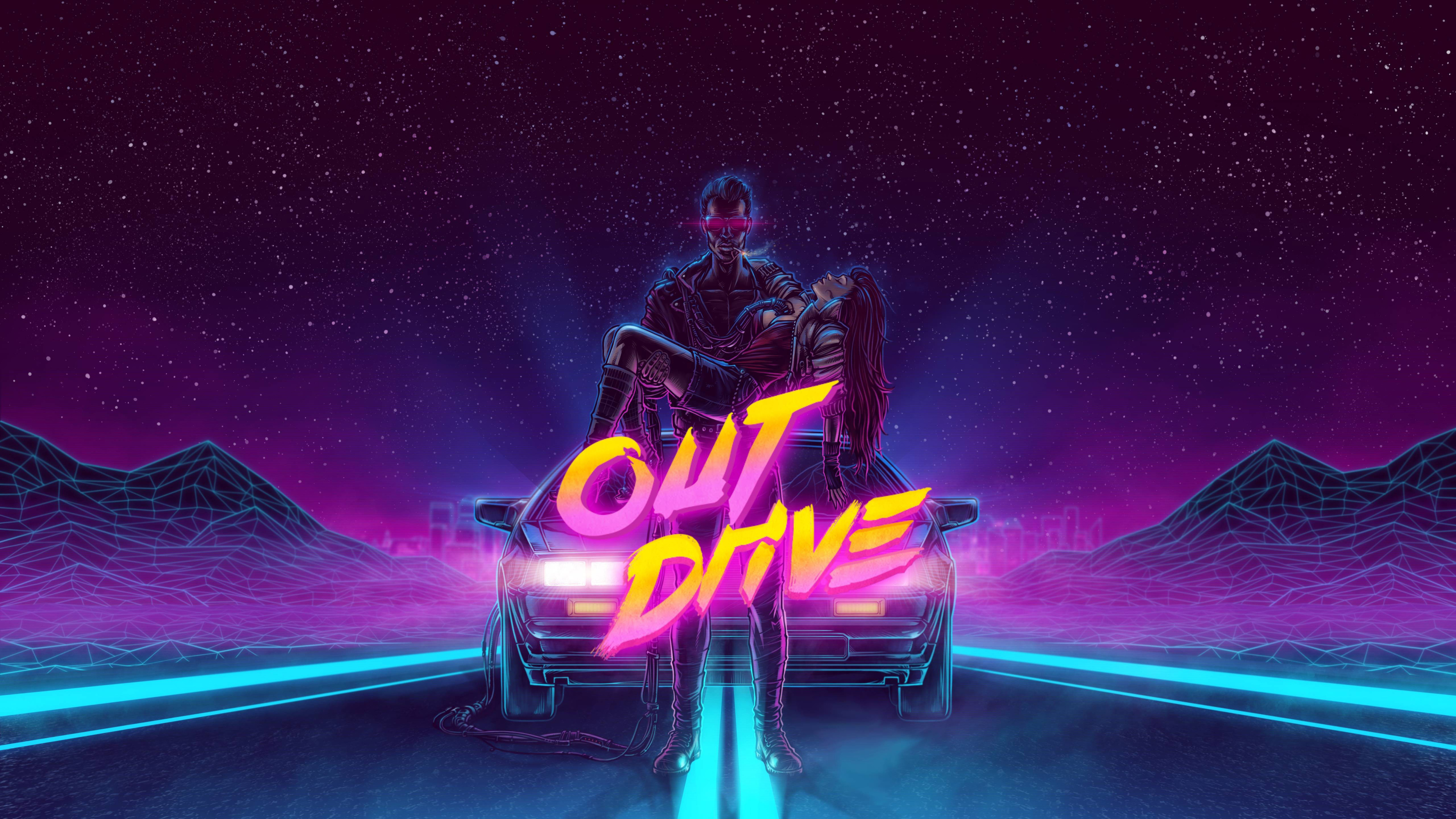 Wallpaper 4k Delorean 1980 Outrun Artwork 4k 4k Wallpapers Artist Wallpapers Artwork Wallpapers Digital Art Wallpapers Hd Wallpapers Retro Wallpapers