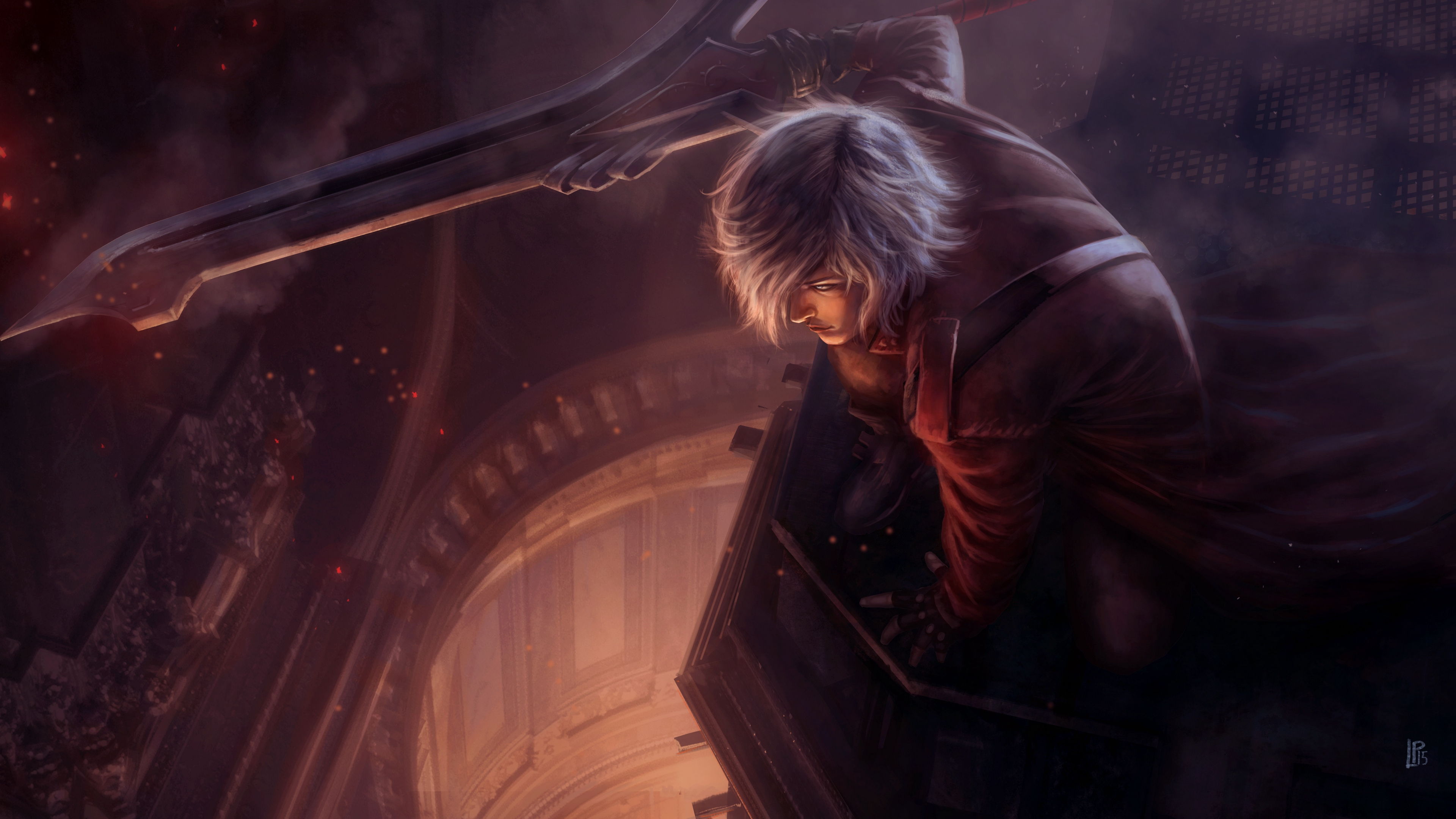 devil may cry dante art character 4k 1538944953 - devil may cry, dante, art, character 4k - devil may cry, Dante, art
