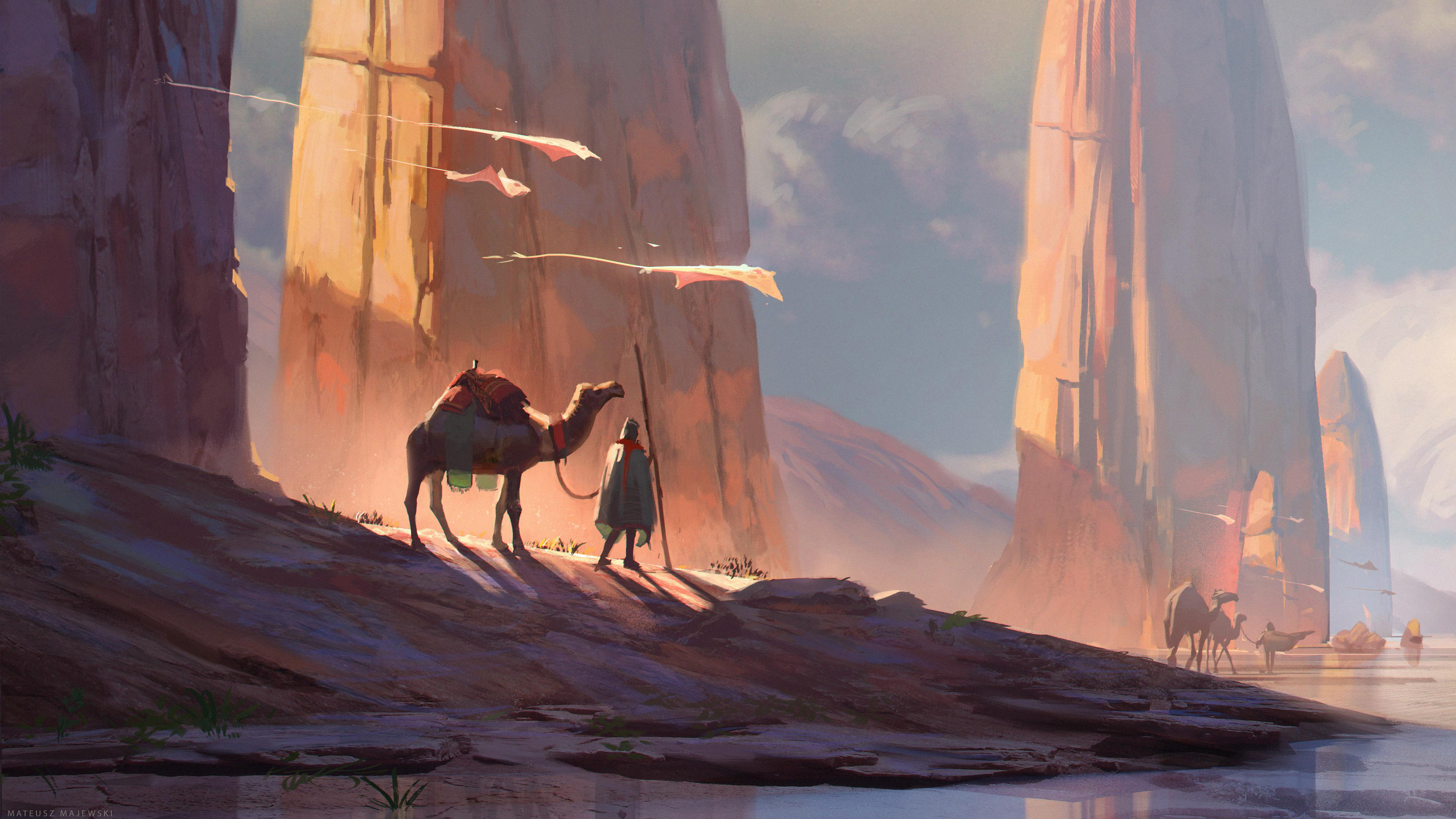 digital art camel desert 4k 1540755522 - Digital Art Camel Desert 4k - hd-wallpapers, digital art wallpapers, desert wallpapers, camel wallpapers, artwork wallpapers, artist wallpapers, 4k-wallpapers