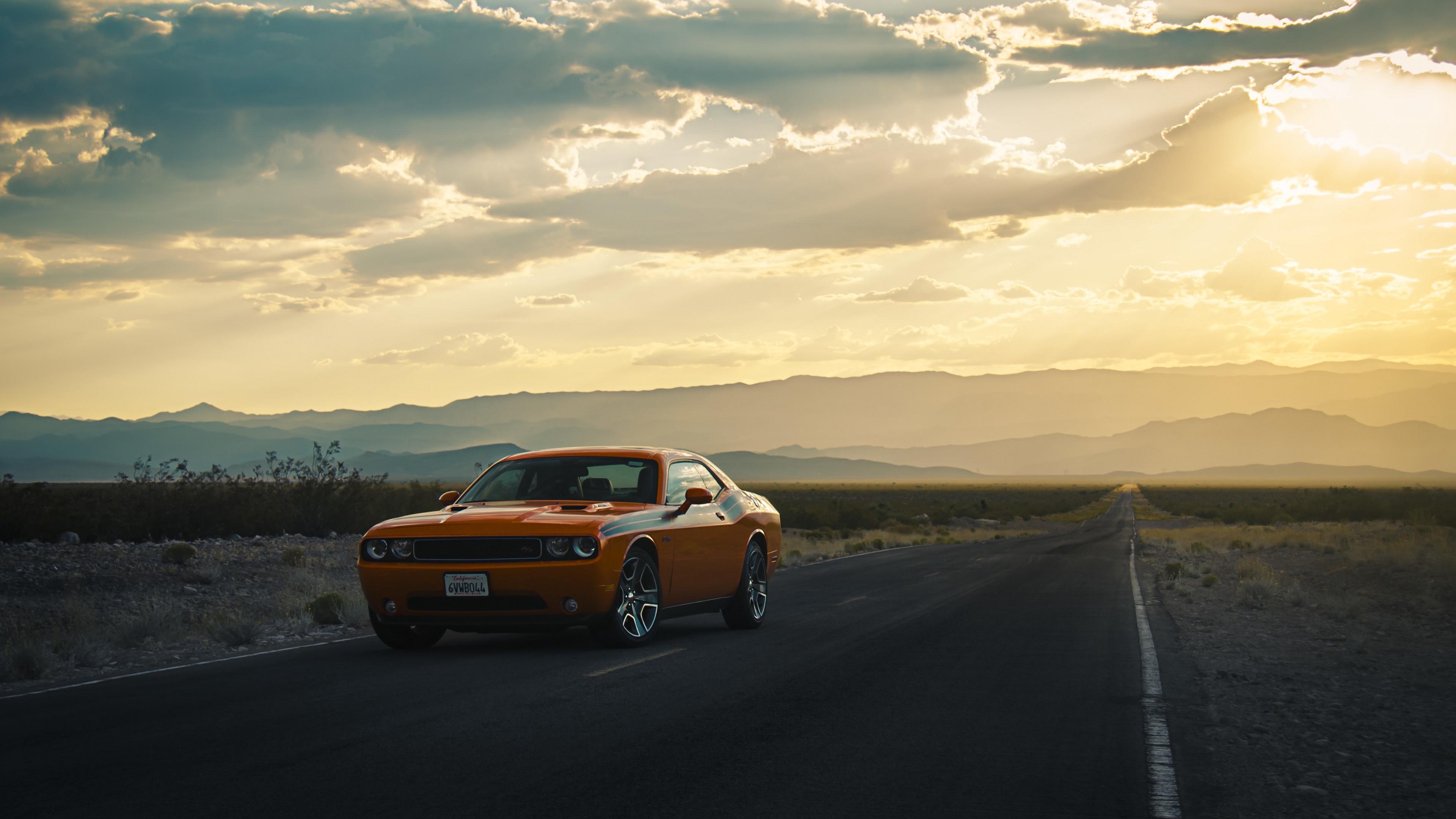 dodge challenger side view road 4k 1538935240 - dodge, challenger, side view, road 4k - side view, Dodge, Challenger