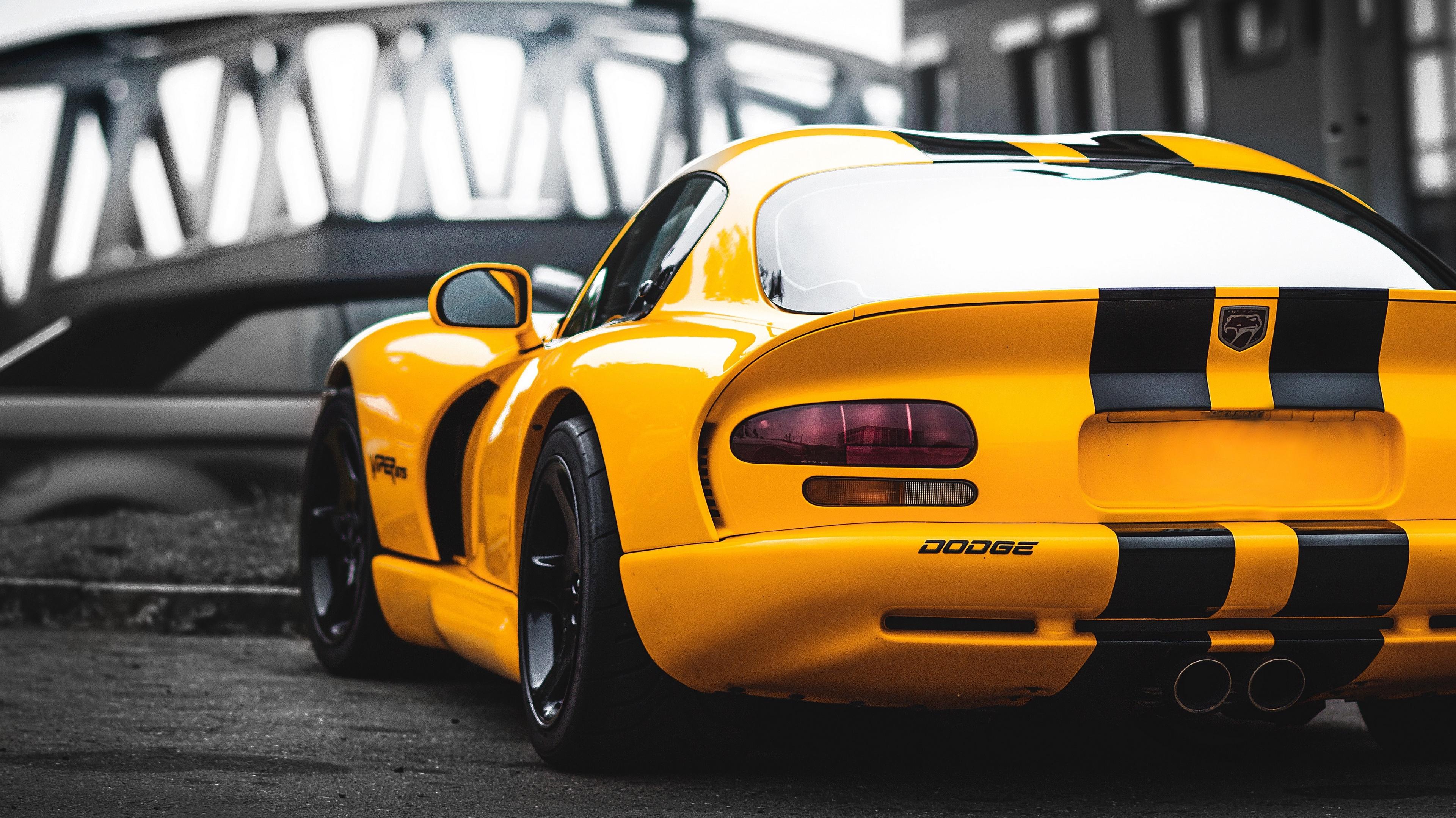dodge viper rear 1539111003 - Dodge Viper Rear - yellow wallpapers, hd-wallpapers, dodge viper wallpapers, cars wallpapers, 4k-wallpapers
