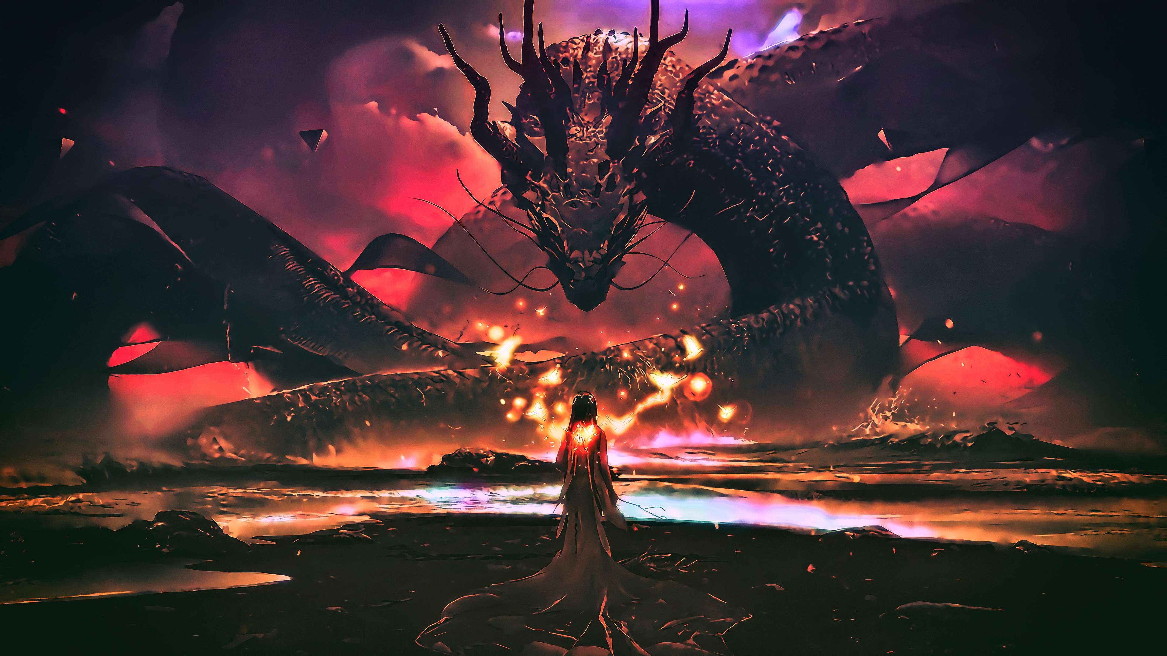 dragon goddess artwork fantasy 4k 1540754282 - Dragon Goddess Artwork Fantasy 4k - hd-wallpapers, fantasy wallpapers, dragon wallpapers, digital art wallpapers, artwork wallpapers, artist wallpapers, 4k-wallpapers