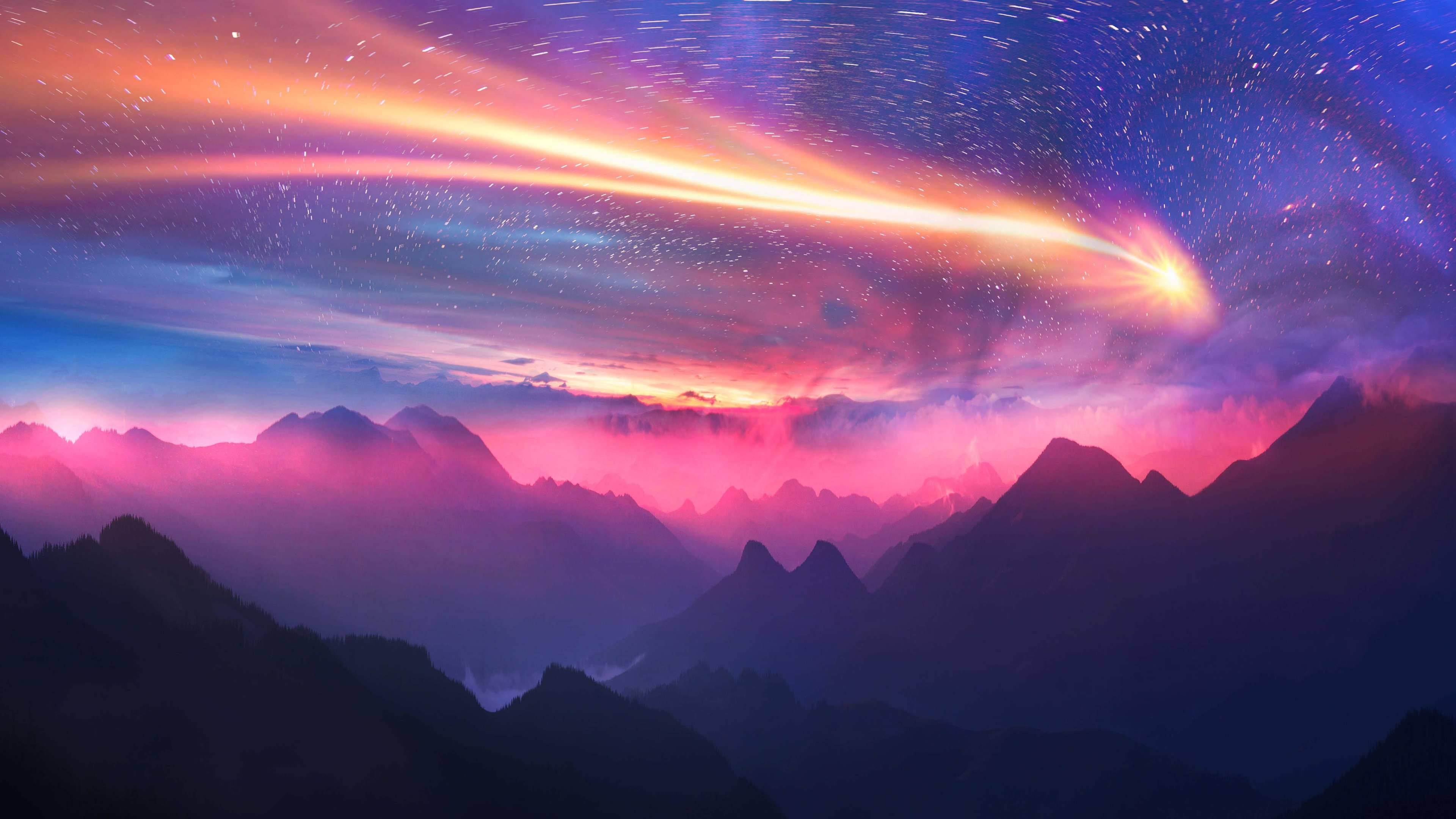 dreamy sky mountains 5k 1540754985 - Dreamy Sky Mountains 5k - sky wallpapers, mountains wallpapers, hd-wallpapers, digital art wallpapers, artwork wallpapers, artist wallpapers, 5k wallpapers, 4k-wallpapers