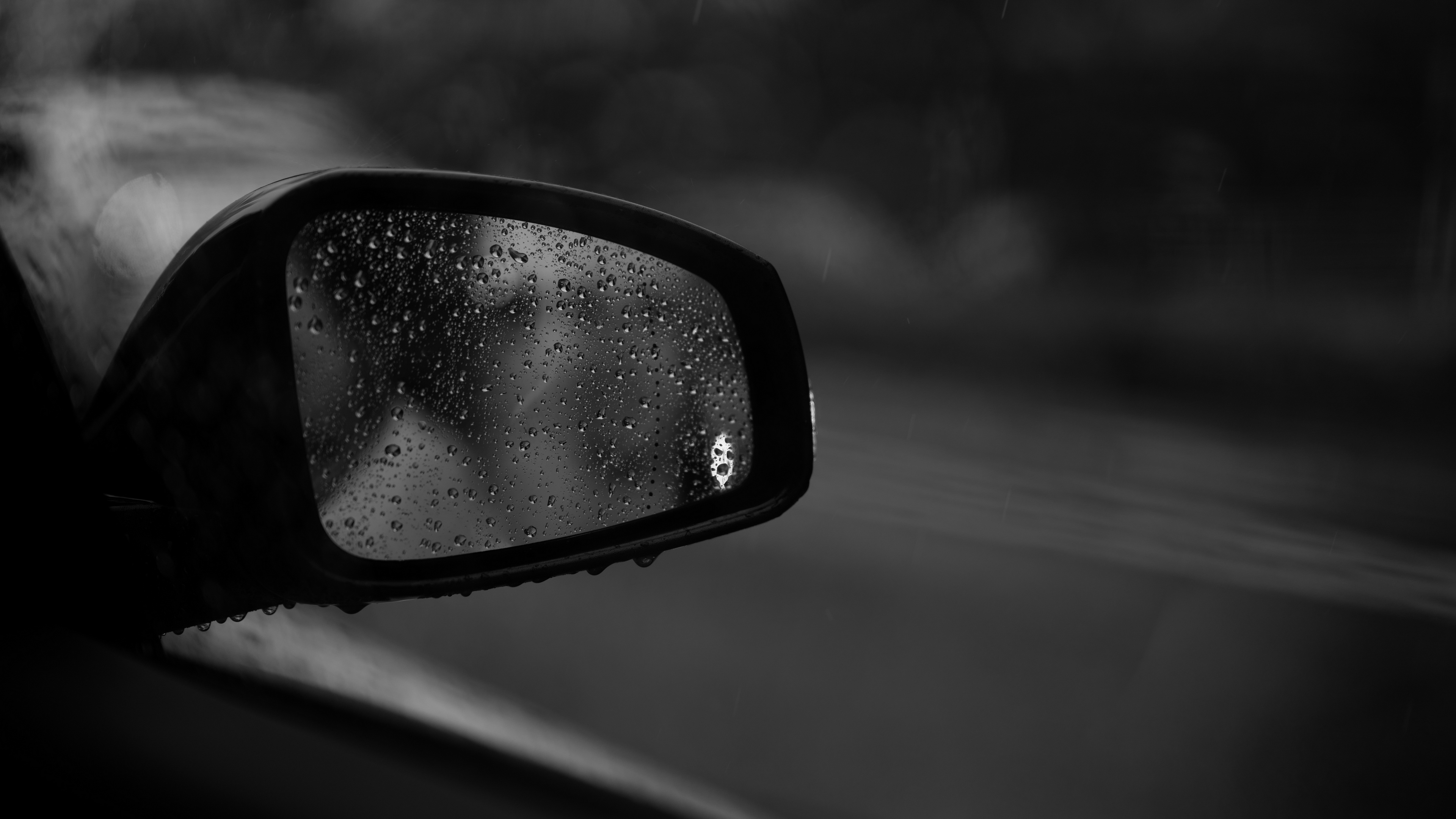drops glass bw mirror car 4k 1540576007 - drops, glass, bw, mirror, car 4k - Glass, Drops, bw