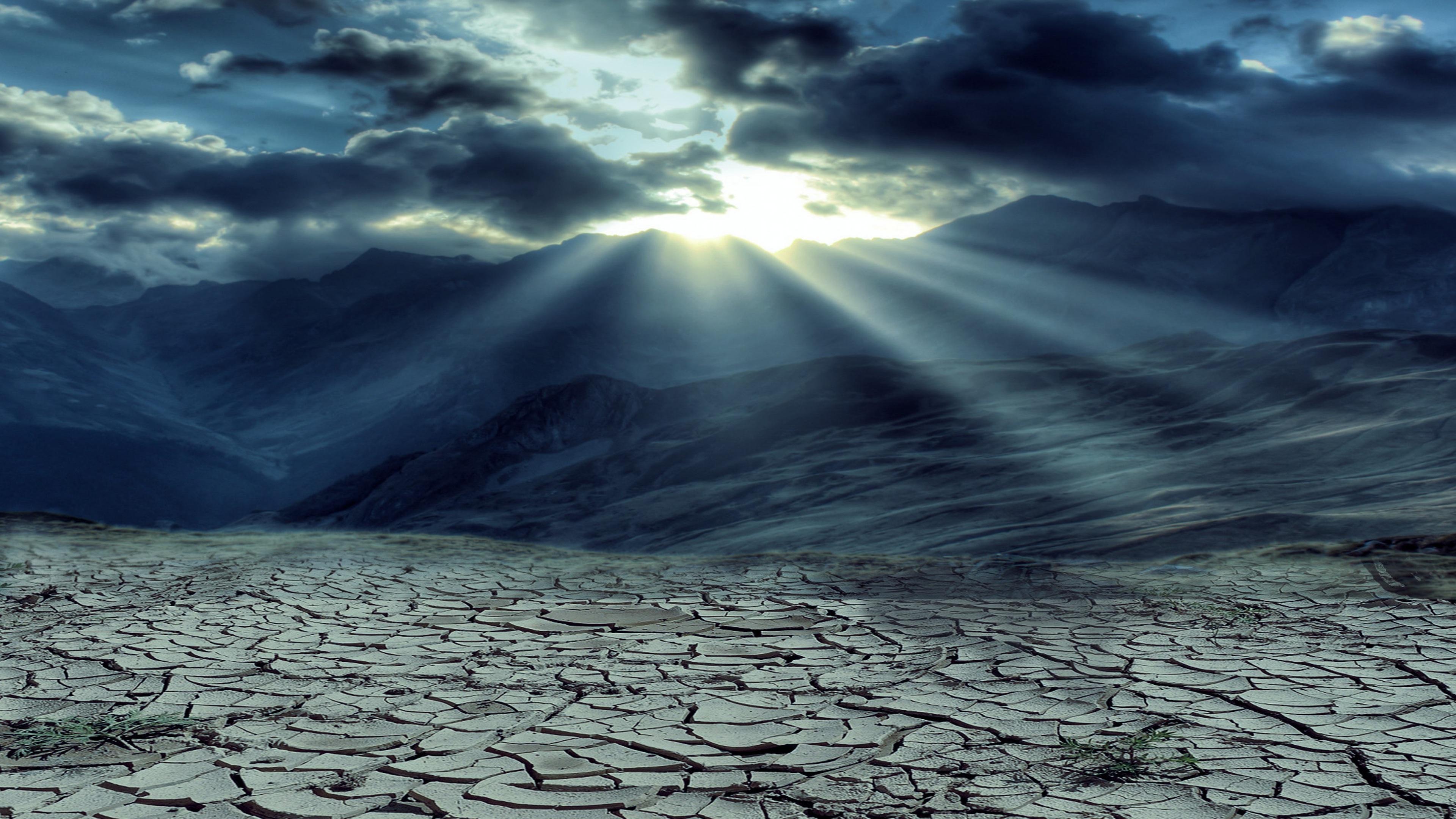 drought mountains cloud sun rays 4k 1540136320 - Drought Mountains Cloud Sun Rays 4k - sky wallpapers, nature wallpapers, mountains wallpapers, hd-wallpapers, drought wallpapers, clouds wallpapers, 5k wallpapers, 4k-wallpapers