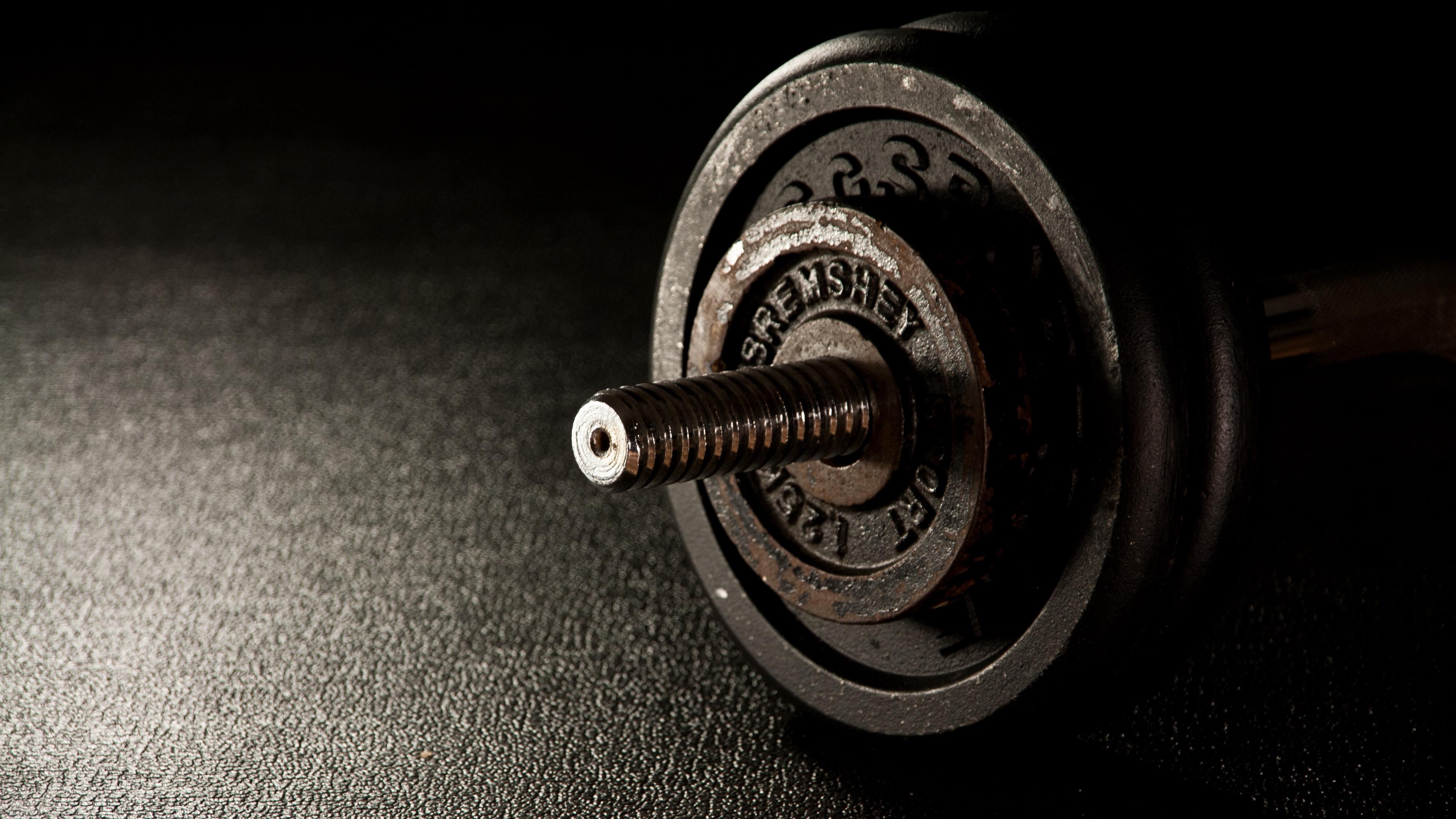 dumbbells fitness gym 4k 1540063263 - dumbbells, fitness, gym 4k - gym, Fitness, dumbbells