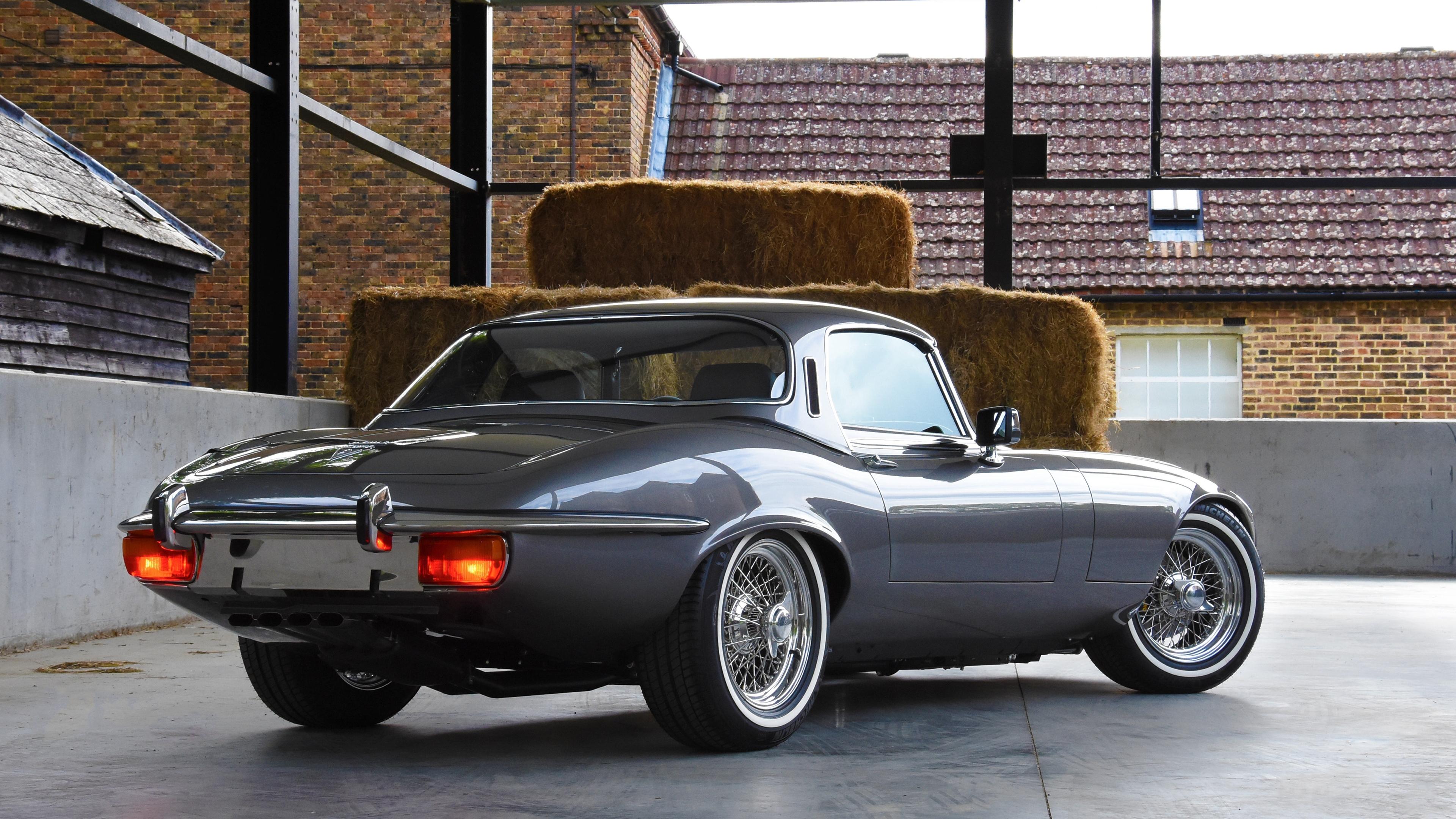 e type uk jaguar s3 v12 2018 rear view 1539113649 - E Type UK Jaguar S3 V12 2018 Rear View - jaguar wallpapers, hd-wallpapers, cars wallpapers, 4k-wallpapers, 2018 cars wallpapers