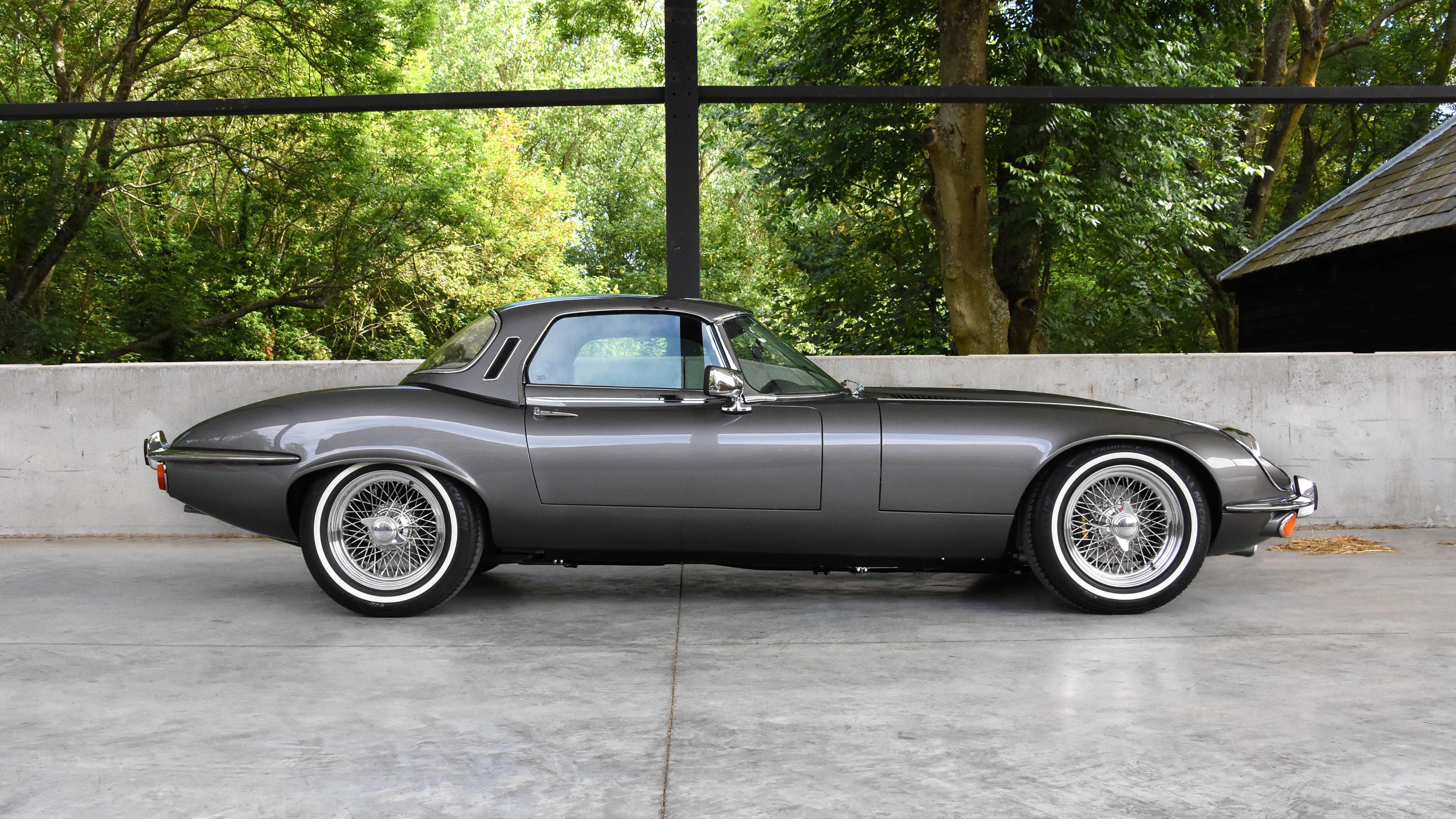 e type uk jaguar s3 v12 2018 side view 1539113651 - E Type UK Jaguar S3 V12 2018 Side View - jaguar wallpapers, hd-wallpapers, cars wallpapers, 4k-wallpapers, 2018 cars wallpapers