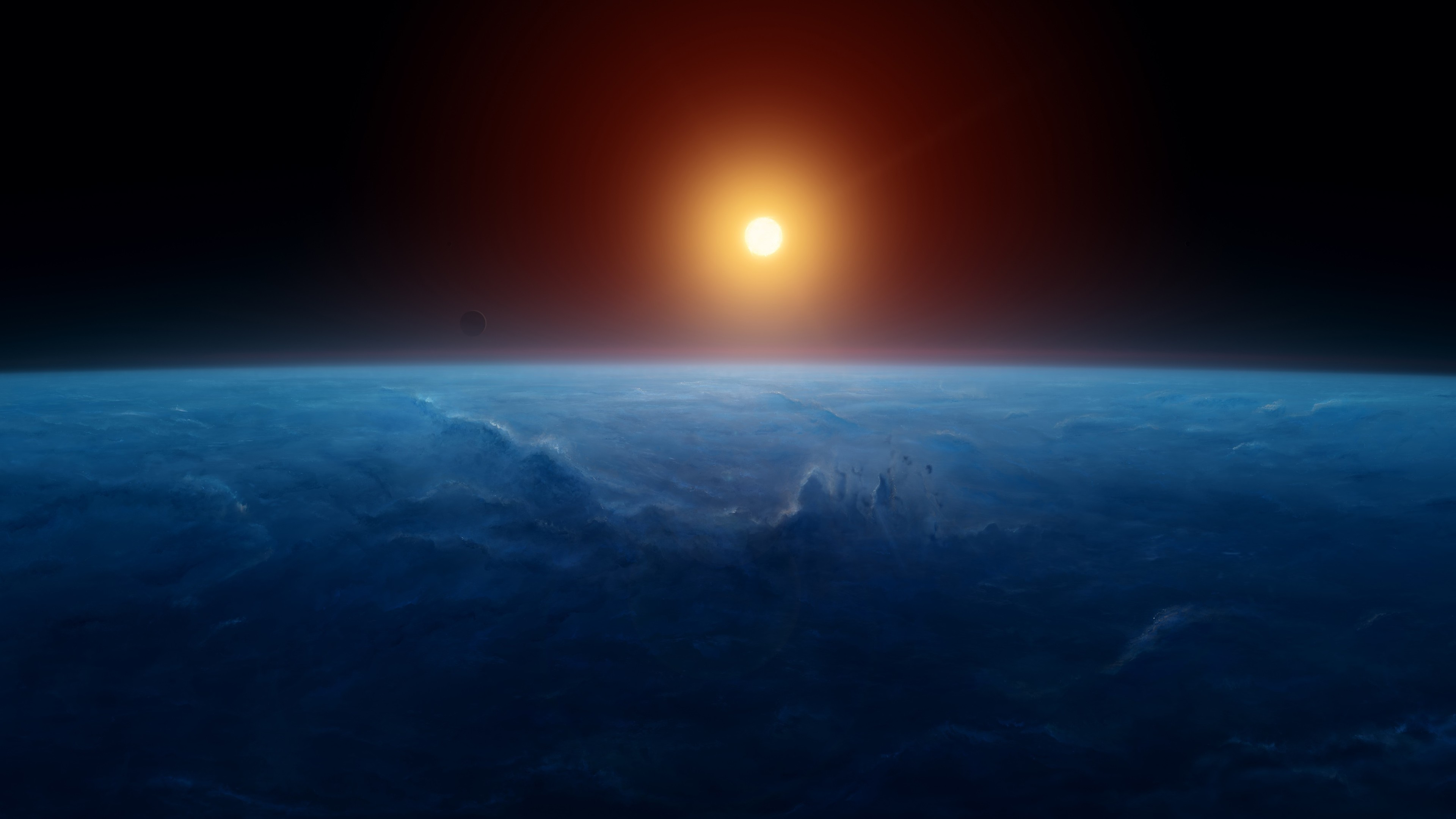 Wallpaper 4k Earth Space Sunset 4k 4k Wallpapers Earth