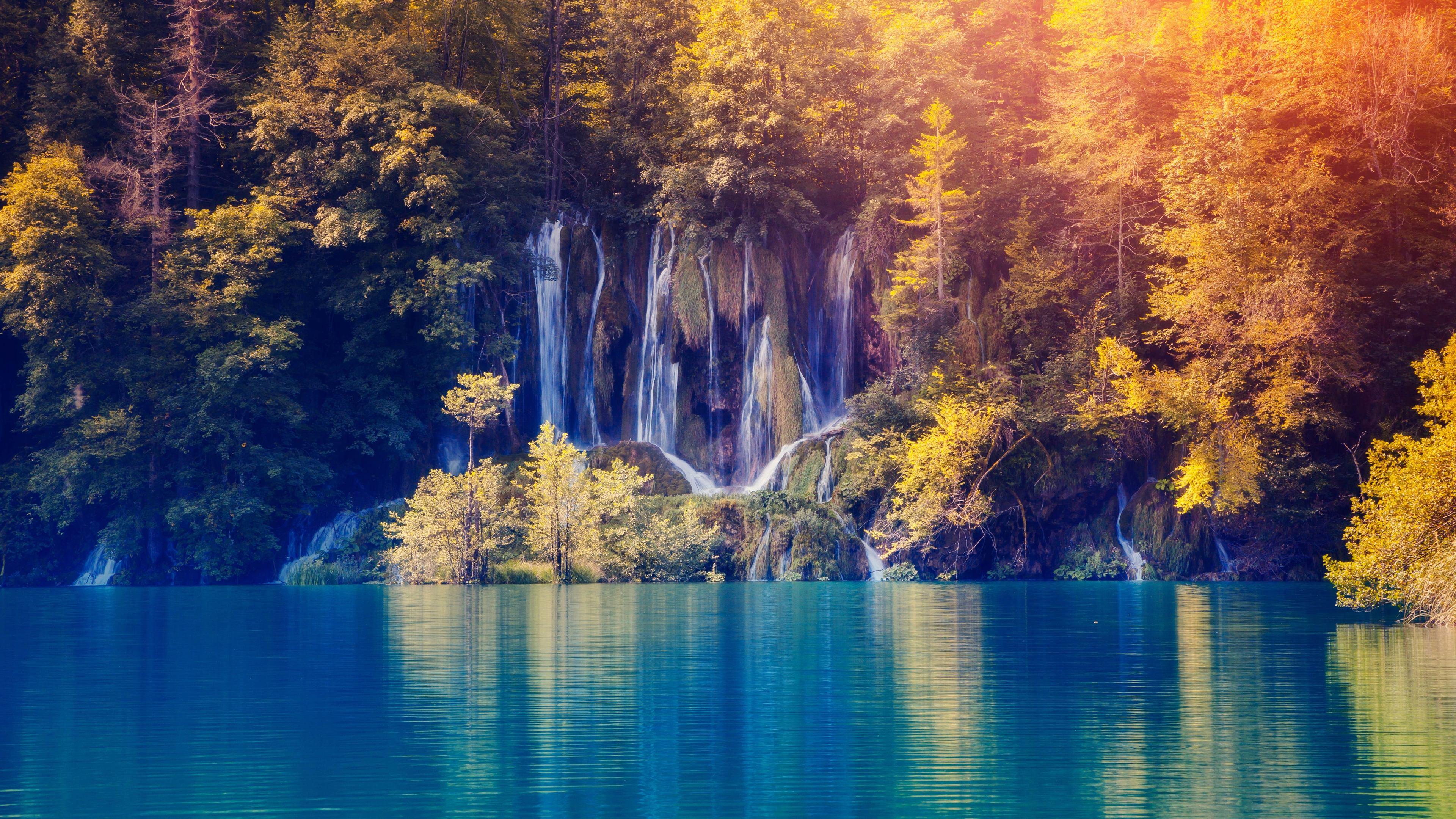 fall foliage lake nature waterfall 4k 1540132899 - Fall Foliage Lake Nature Waterfall 4k - waterfall wallpapers, nature wallpapers, lake wallpapers, hd-wallpapers, 5k wallpapers, 4k-wallpapers
