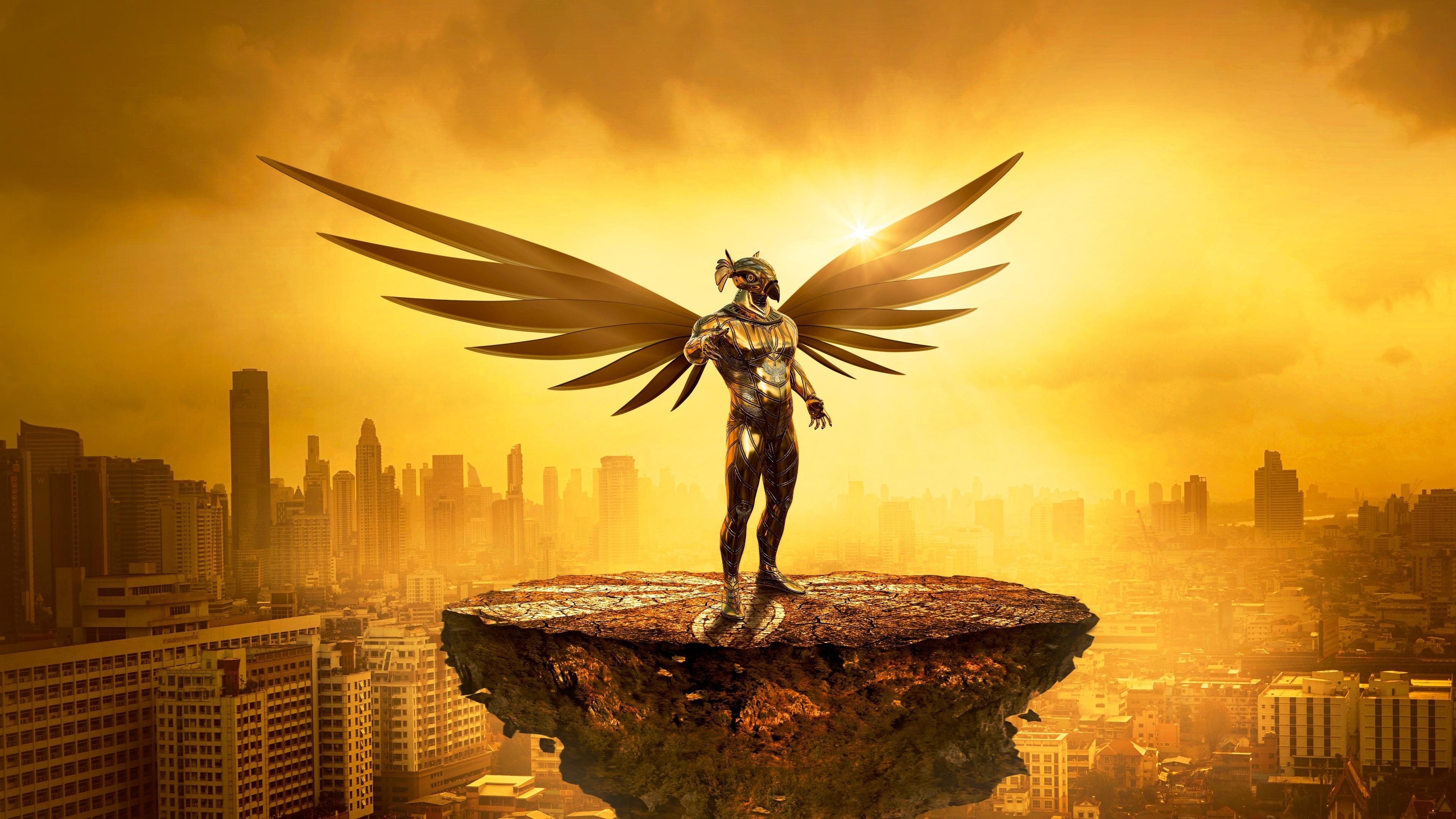 fantasy angel gold digital art 5k 1540754274 - Fantasy Angel Gold Digital Art 5k - wings wallpapers, hd-wallpapers, digital art wallpapers, artwork wallpapers, artist wallpapers, angel wallpapers, 5k wallpapers, 4k-wallpapers