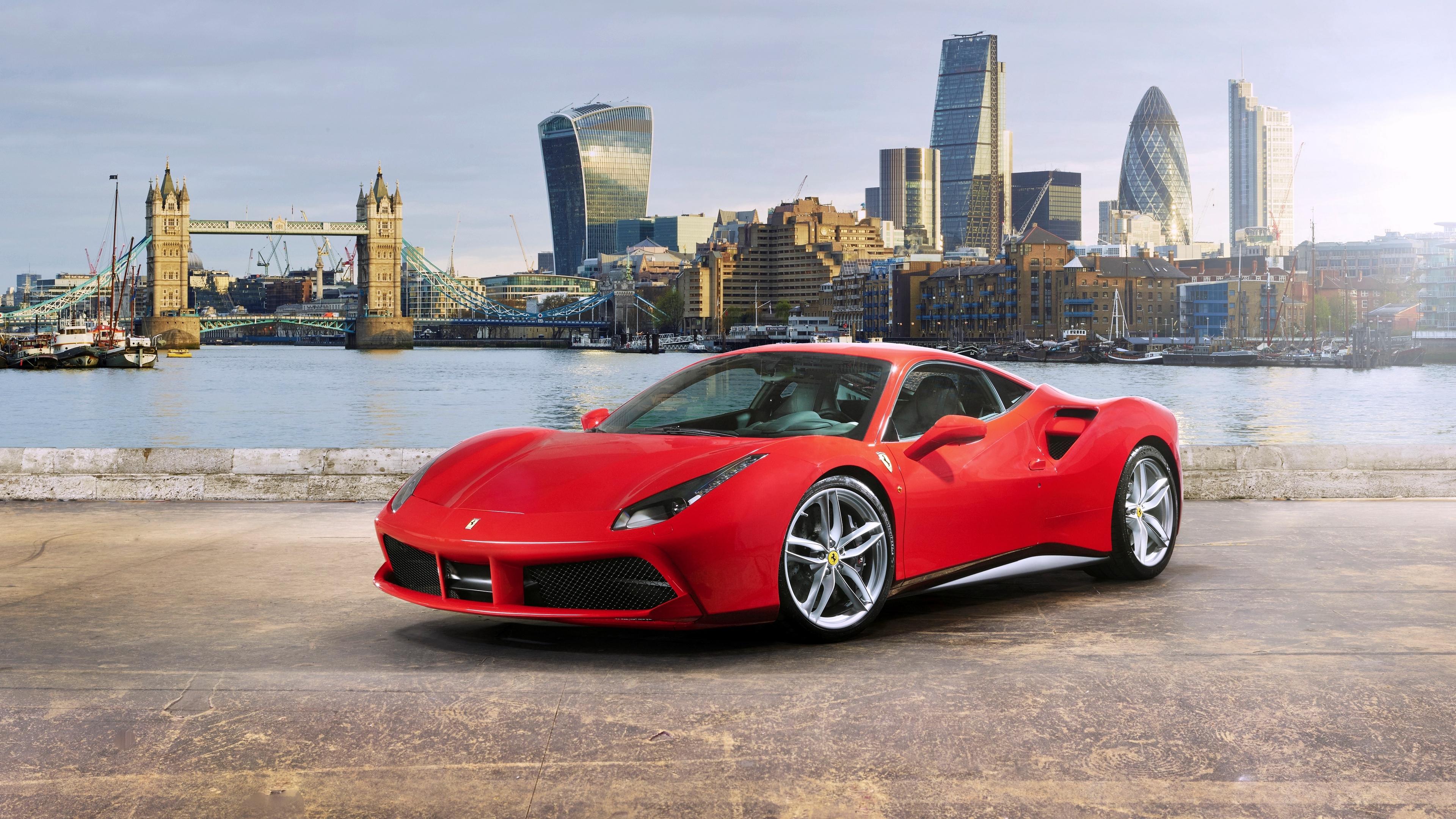 ferrari 488 gtb red side view 4k 1538934860 - ferrari, 488 gtb, red, side view 4k - red, Ferrari, 488 gtb