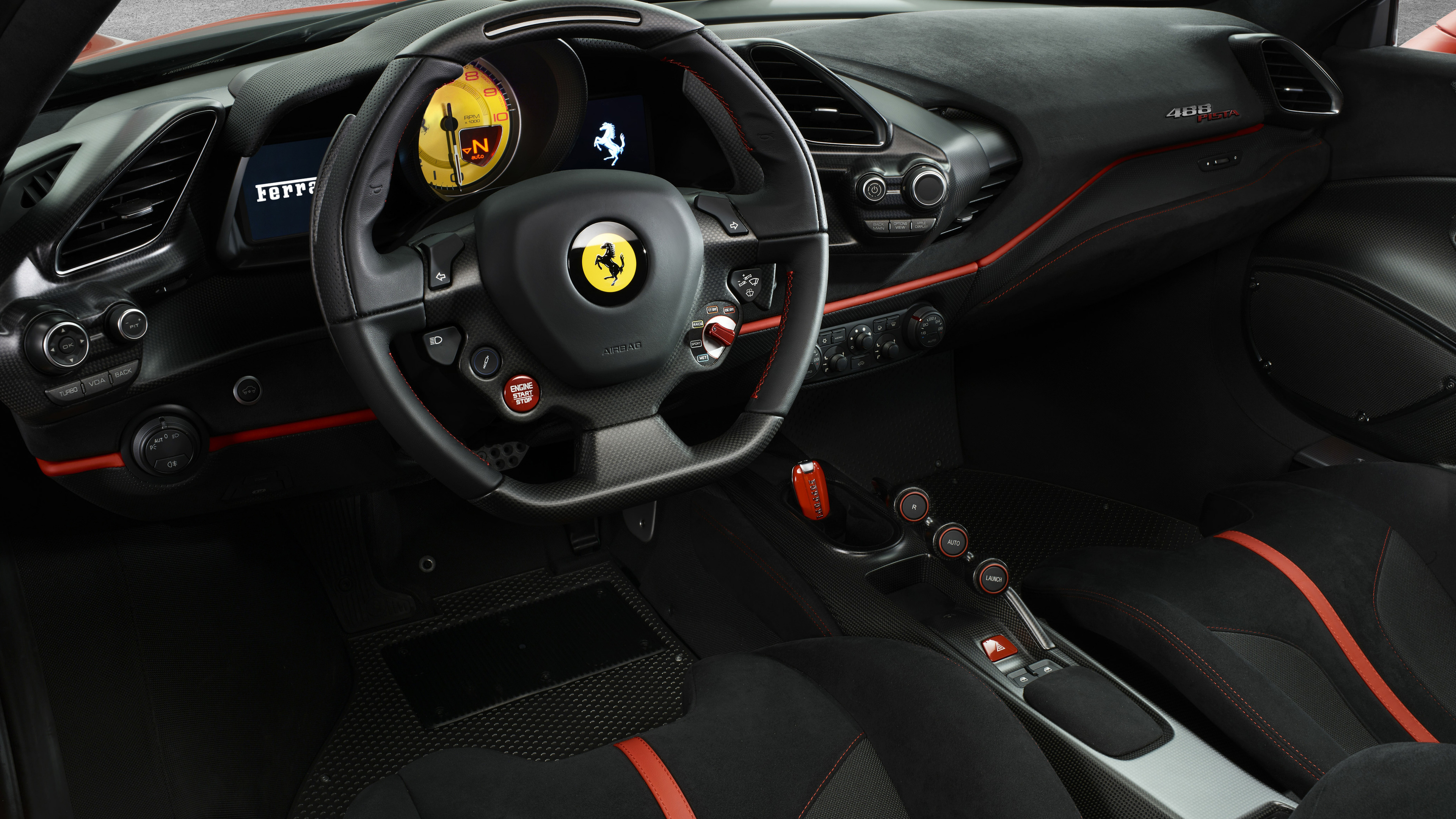Wallpaper 4k Ferrari 488 Pista Interior 4k 2018 Cars Wallpapers 4k