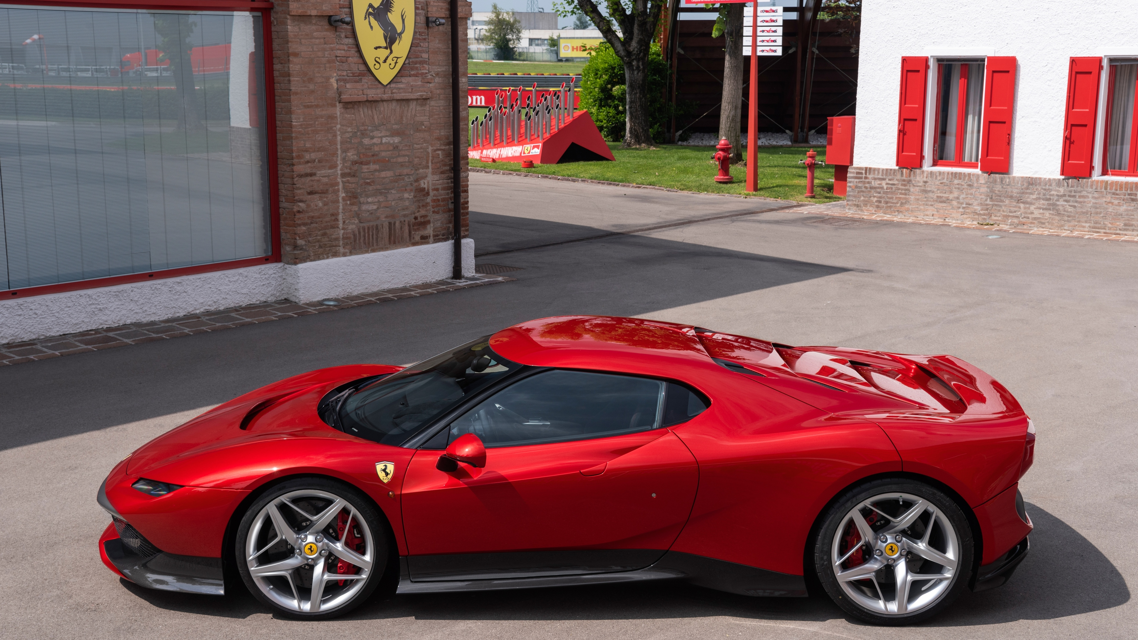 ferrari sp38 side view 4k 1539111422 - Ferrari SP38 Side View 4k - hd-wallpapers, ferrari wallpapers, ferrari sp38 wallpapers, cars wallpapers, 4k-wallpapers, 2018 cars wallpapers