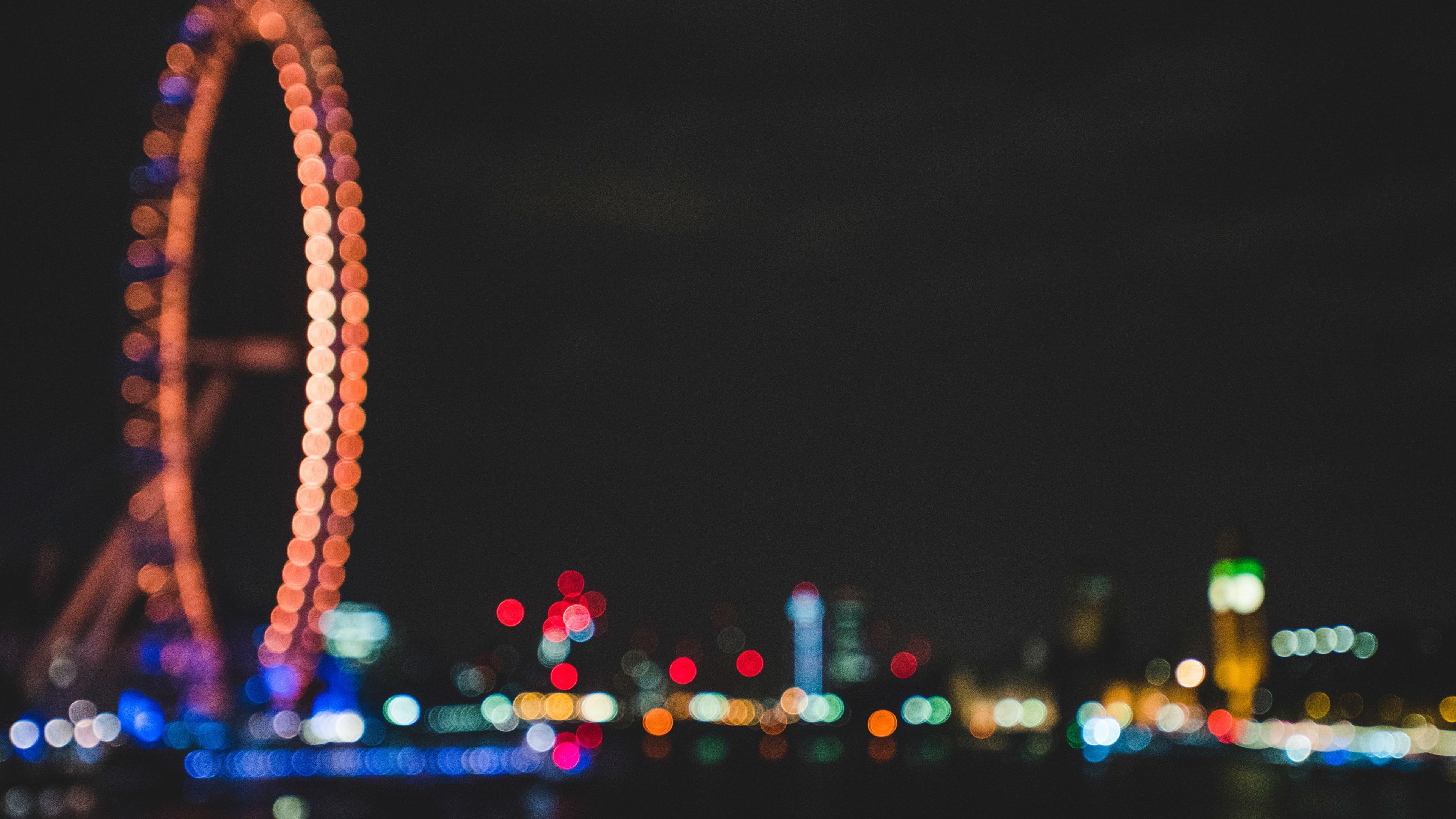 ferris wheel bokeh effect lights night dark 1540144456 - Ferris Wheel Bokeh Effect Lights Night Dark - night wallpapers, nature wallpapers, lights wallpapers, hd-wallpapers, ferris wheel wallpapers, dark wallpapers, 4k-wallpapers