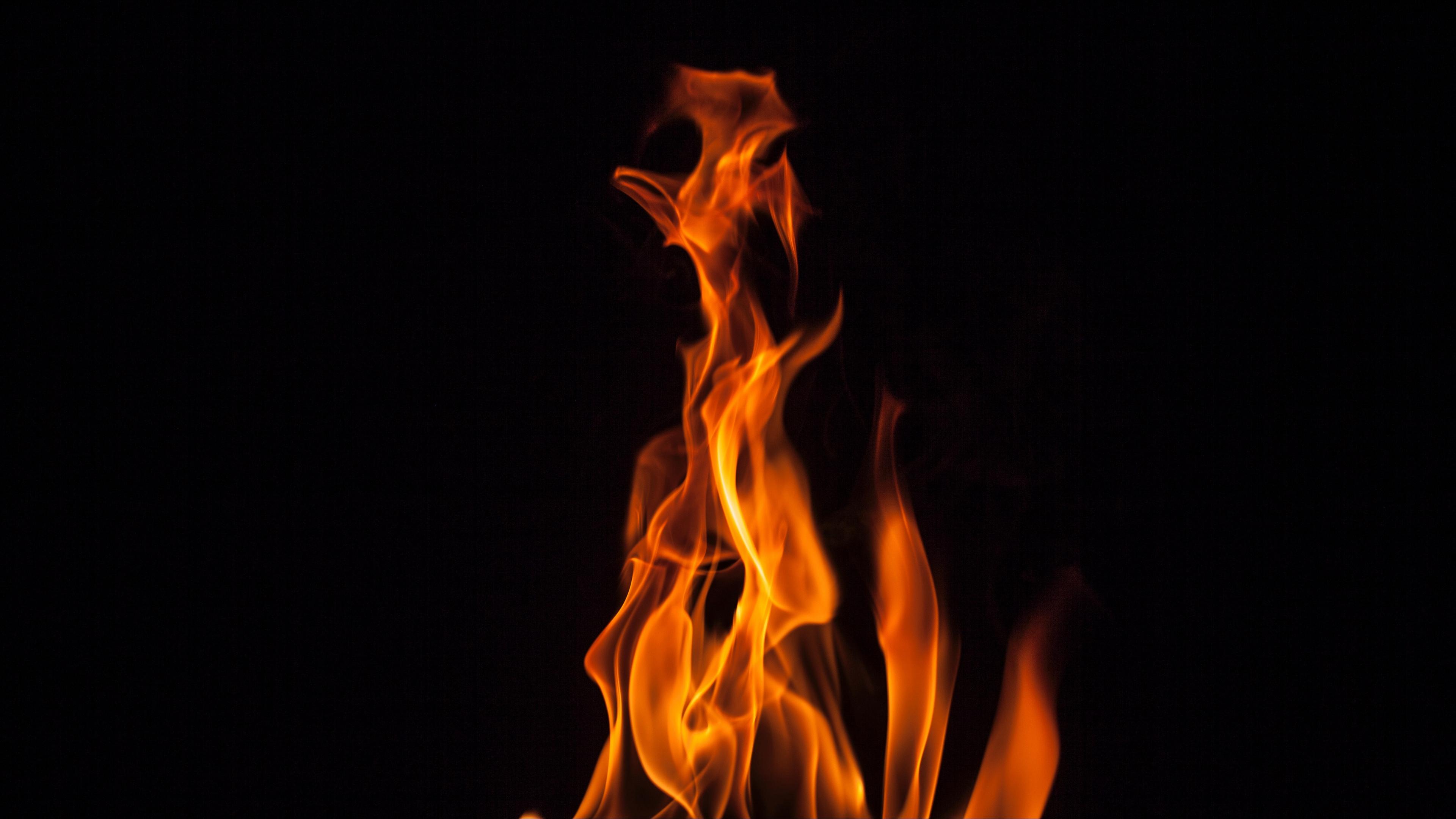 Wallpaper 4k Fire Flame Bonfire Dark Burning 4k Bonfire Fire Flame