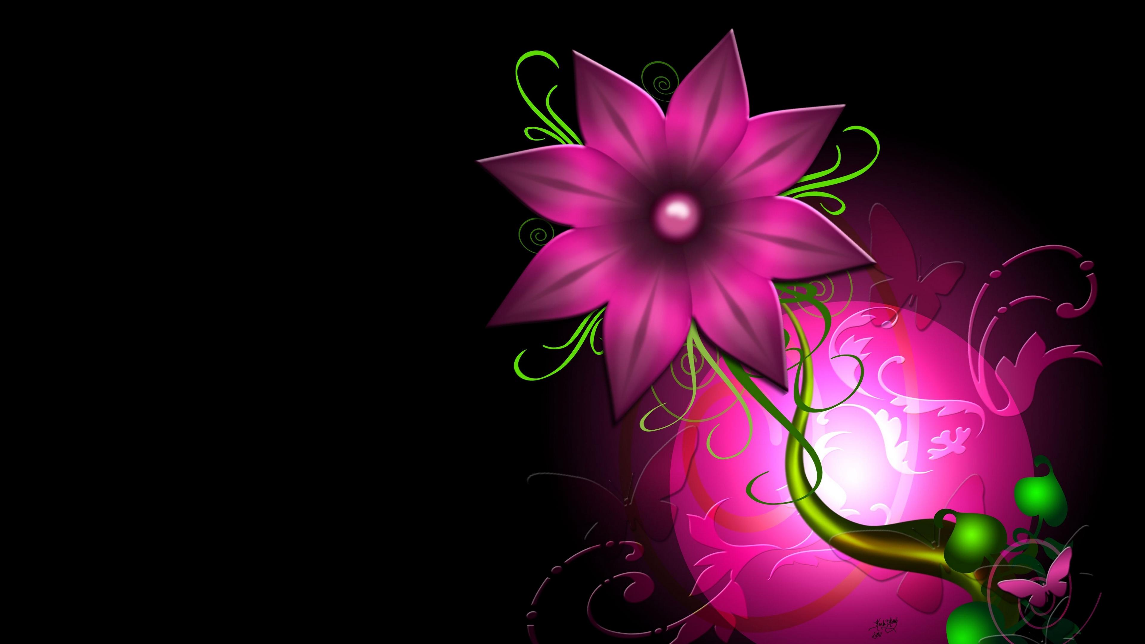flower light leaf circle background 4k 1539369641 - flower, light, leaf, circle, background 4k - Light, leaf, flower