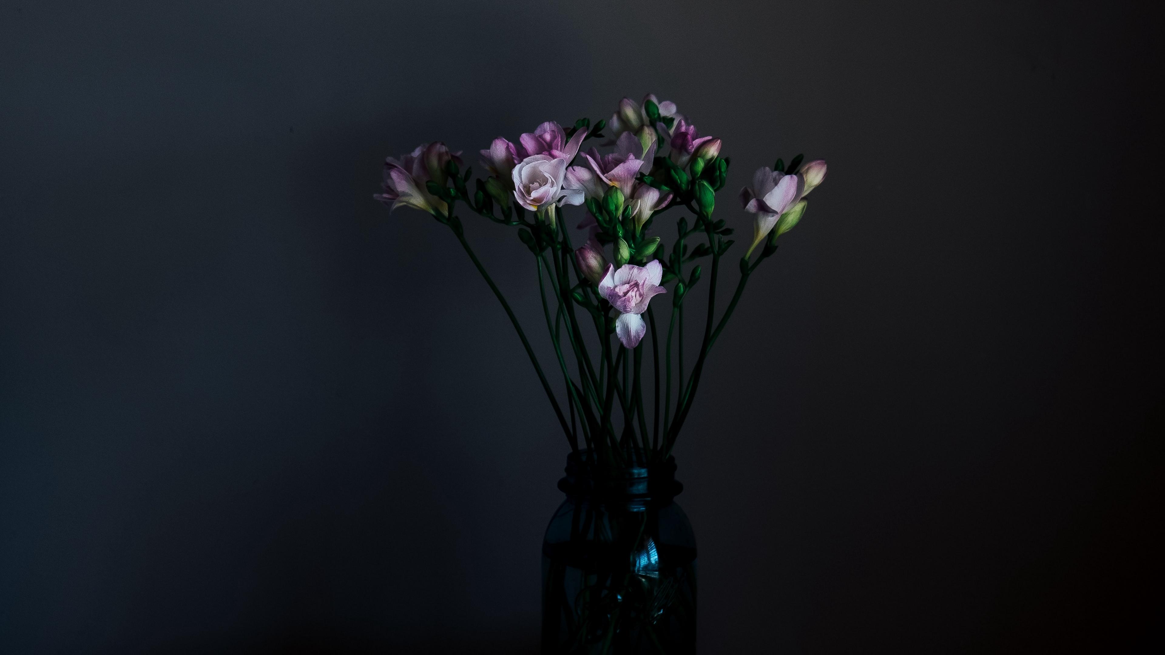 flowers vase dark bouquet 4k 1540575749 - flowers, vase, dark, bouquet 4k - Vase, Flowers, Dark