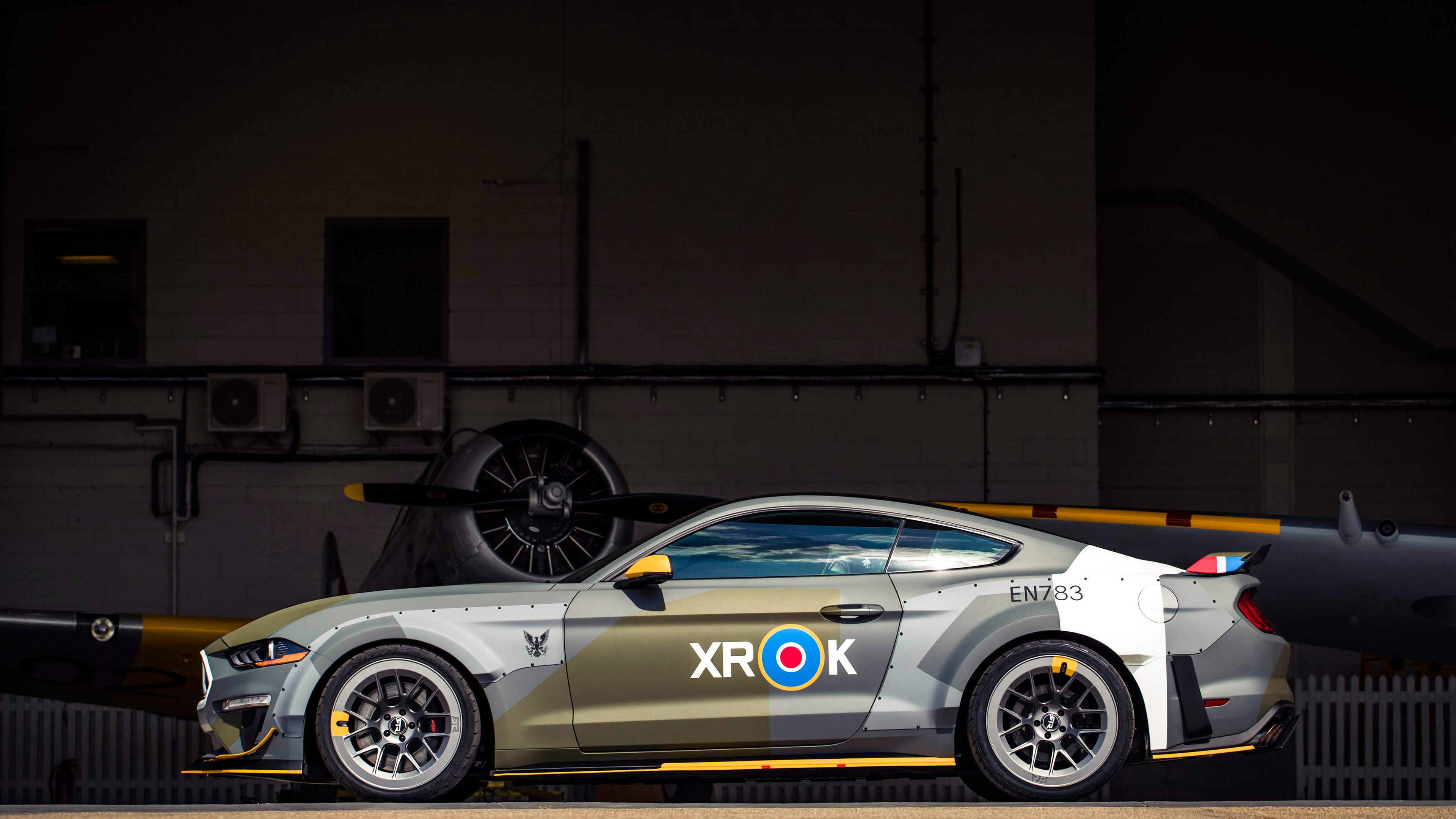 ford eagle squadron mustang gt 2018 side view 1539112385 - Ford Eagle Squadron Mustang GT 2018 Side View - mustang wallpapers, hd-wallpapers, ford wallpapers, ford mustang wallpapers, 4k-wallpapers, 2018 cars wallpapers
