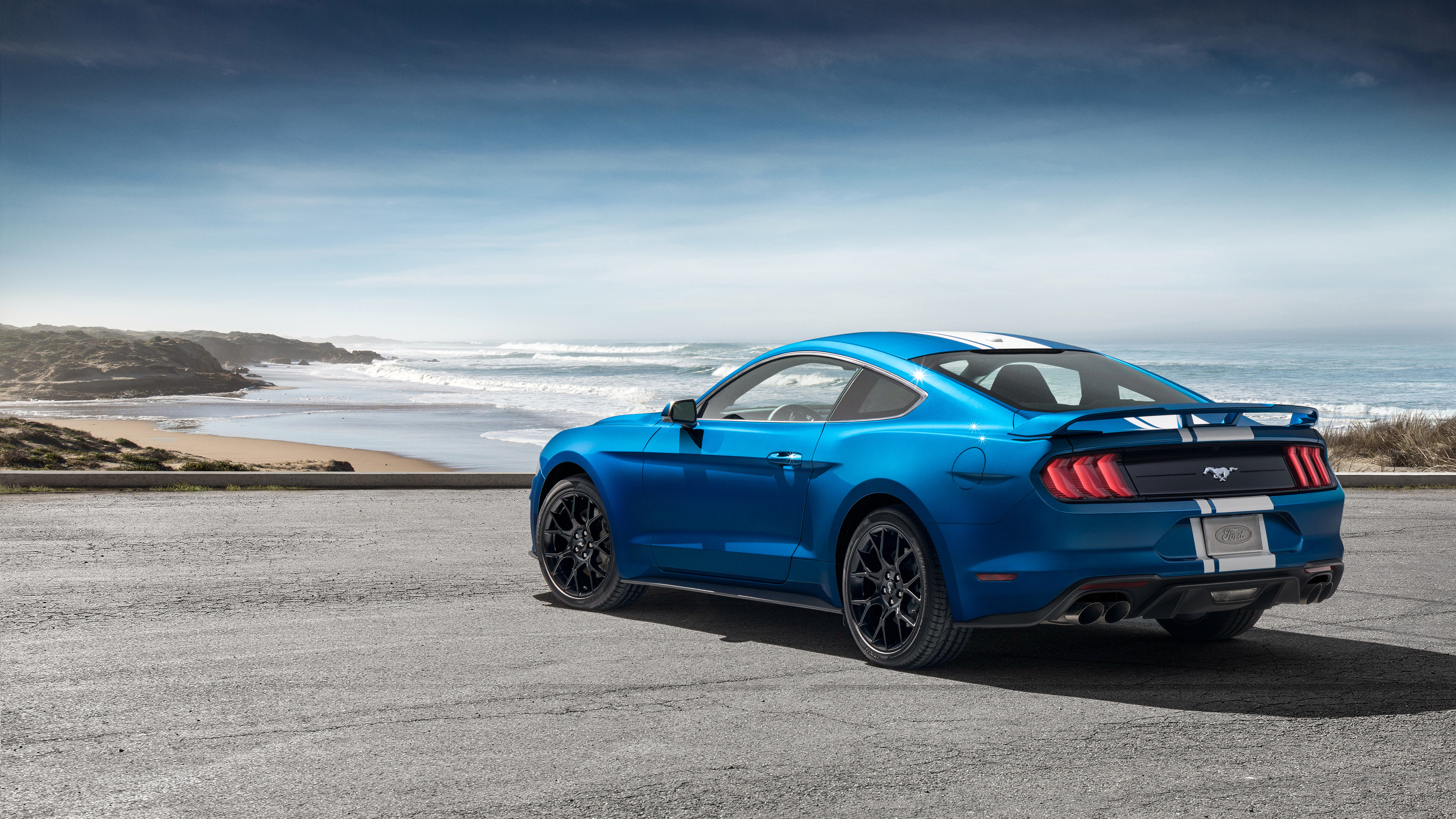 Wallpaper 4k Ford Mustang Ecoboost Performance Pack 1 2018 Rear 2018