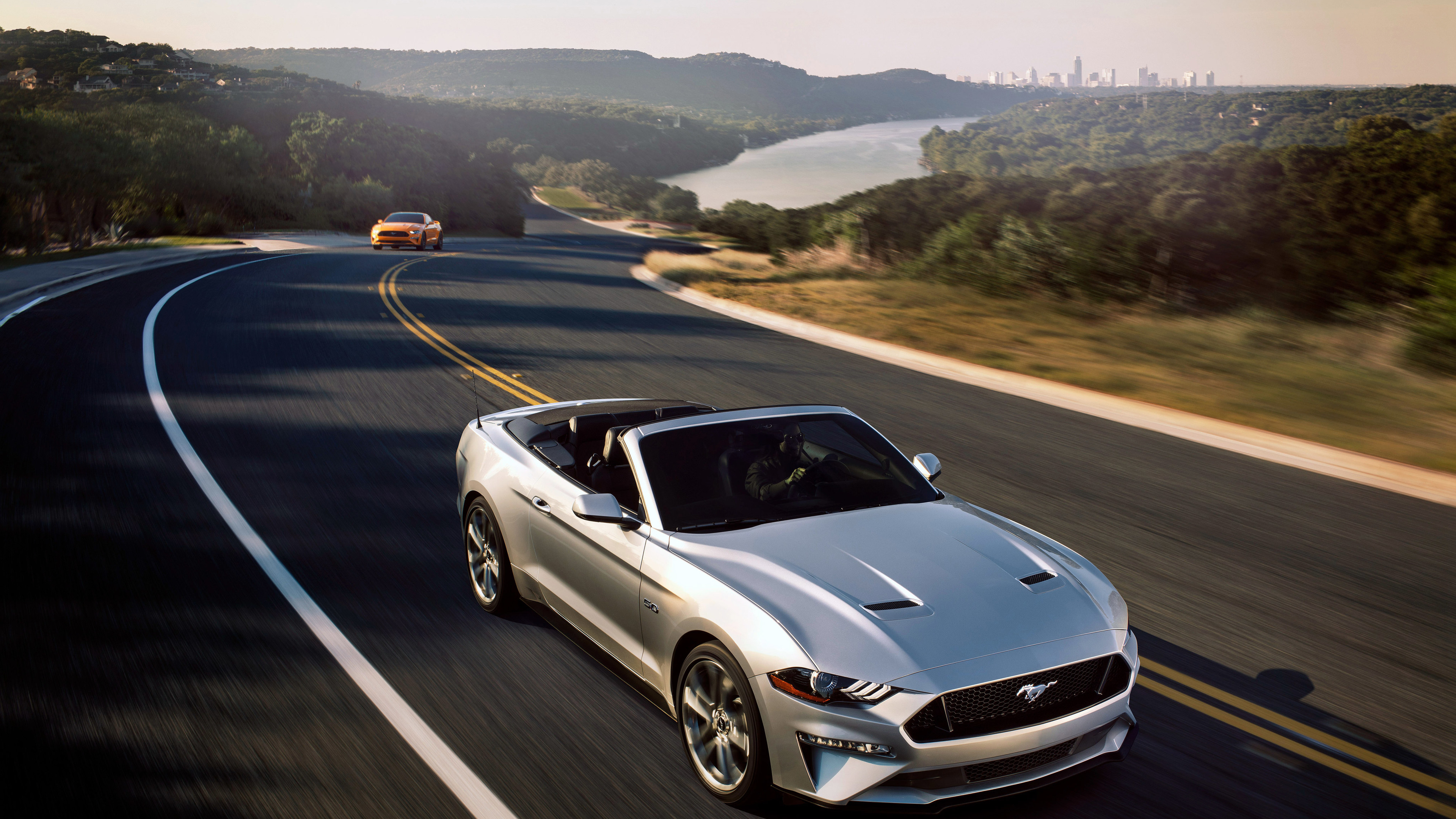 Wallpaper 4k Ford Mustang Gt Convertible 2018 4k 2018 Cars