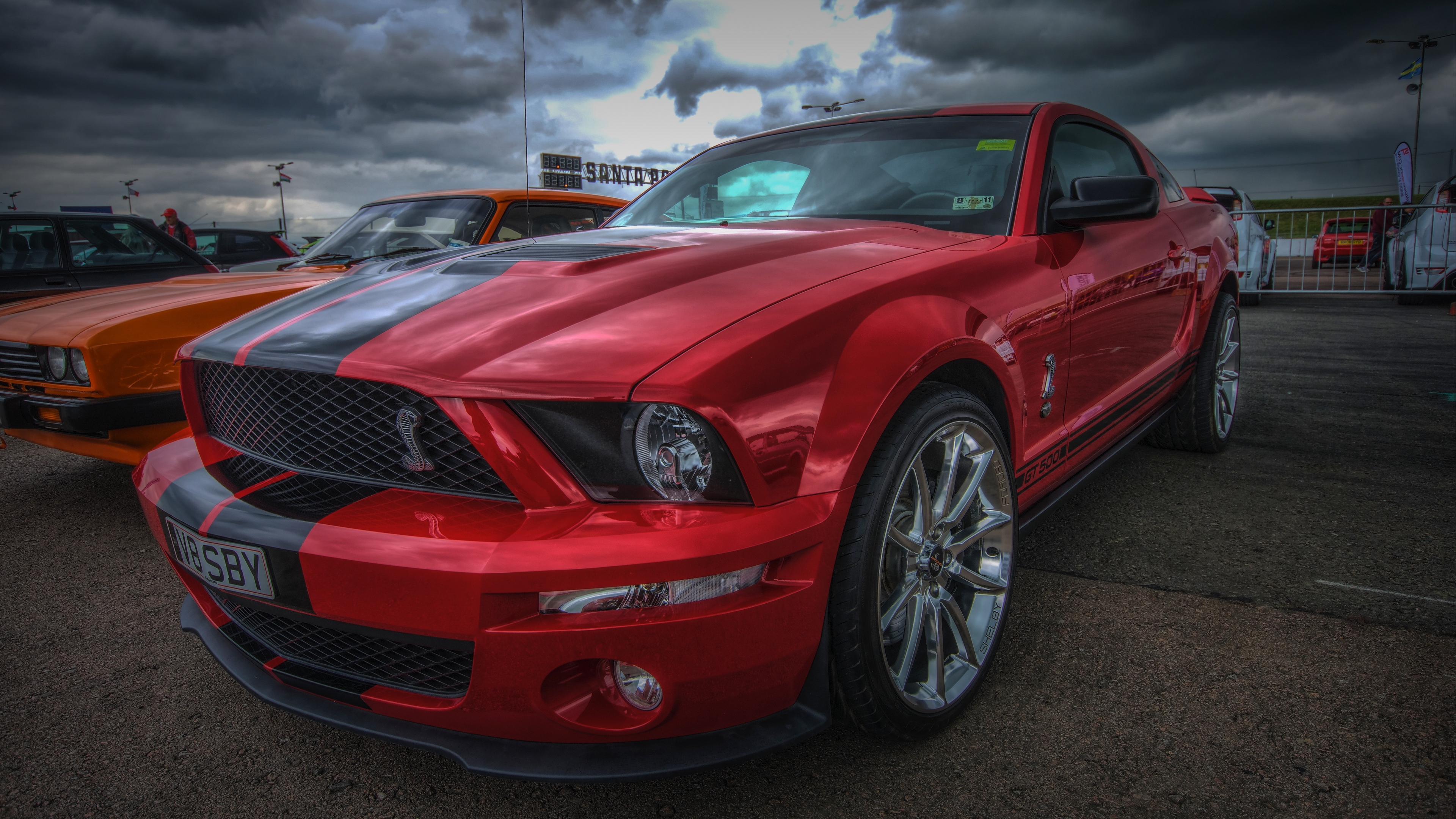 ford mustang shelby gt500, ford mustang, red, sports car ...