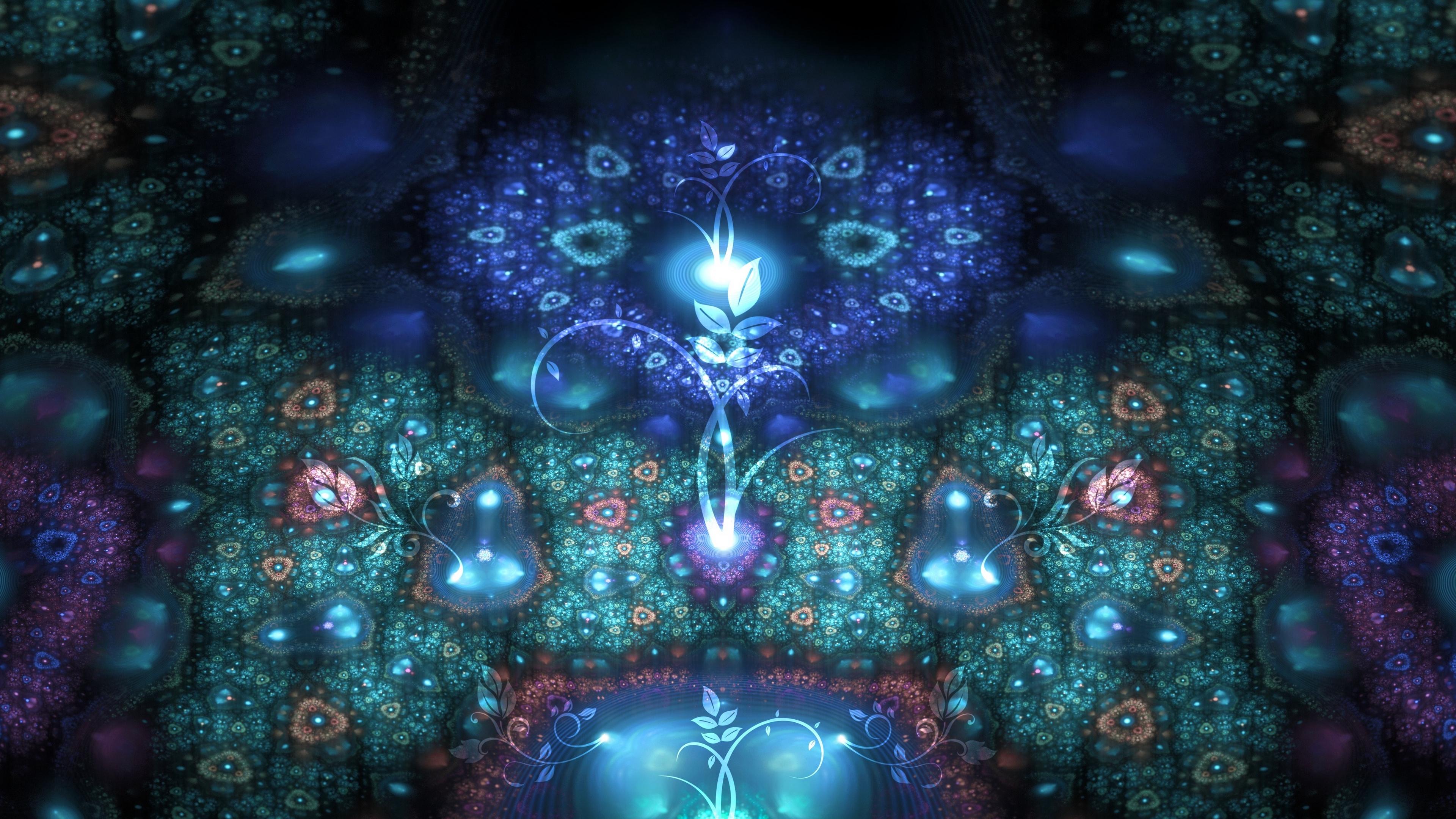 fractal patterns flowers shapes 4k 1539369978 - fractal, patterns, flowers, shapes 4k - patterns, Fractal, Flowers