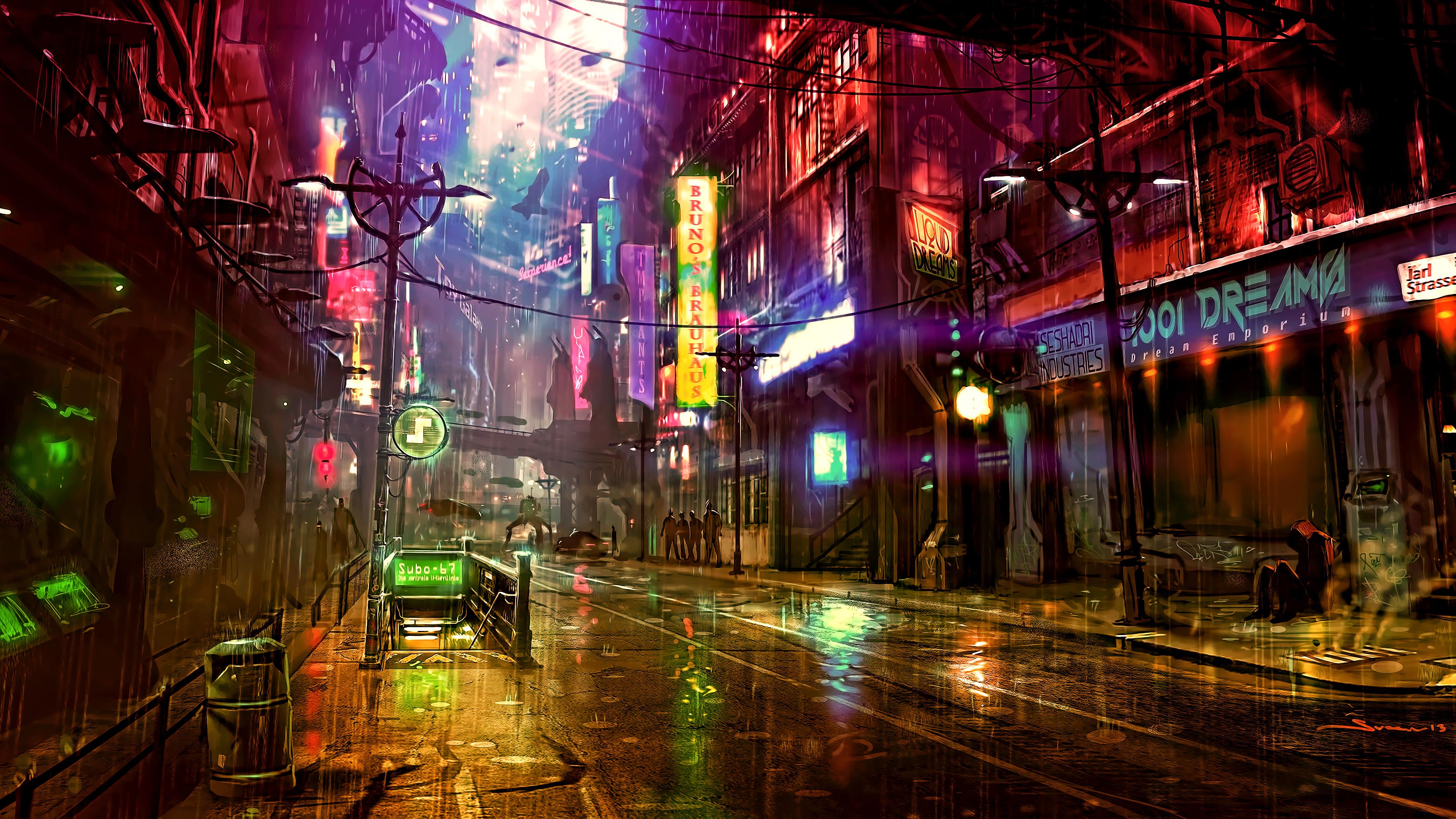 futuristic city cyberpunk neon street digital art 4k 1540754260 - Futuristic City Cyberpunk Neon Street Digital Art 4k - street wallpapers, neon wallpapers, hd-wallpapers, digital art wallpapers, cyberpunk wallpapers, artwork wallpapers, artist wallpapers, 4k-wallpapers