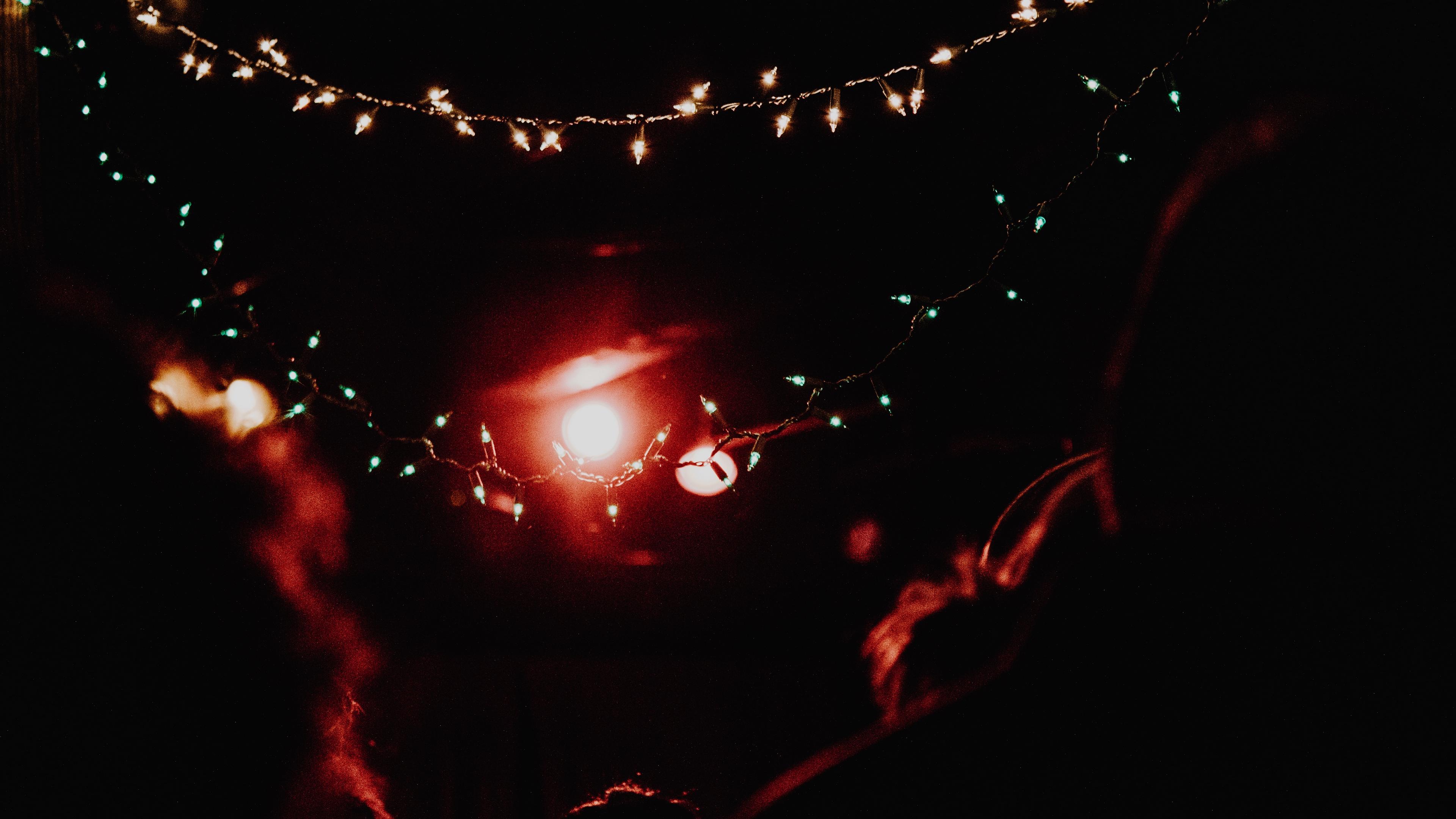 garland light glitter 4k 1540574496 - garland, light, glitter 4k - Light, Glitter, garland